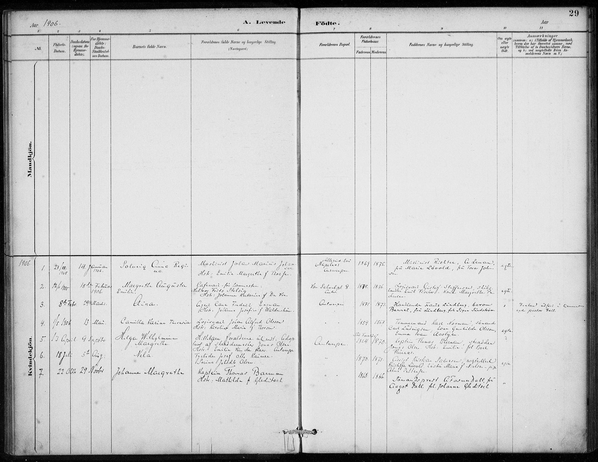 SAB, Den Norske Sjømannsmisjon i utlandet*, Ministerialbok nr. A 2, 1887-1913, s. 29