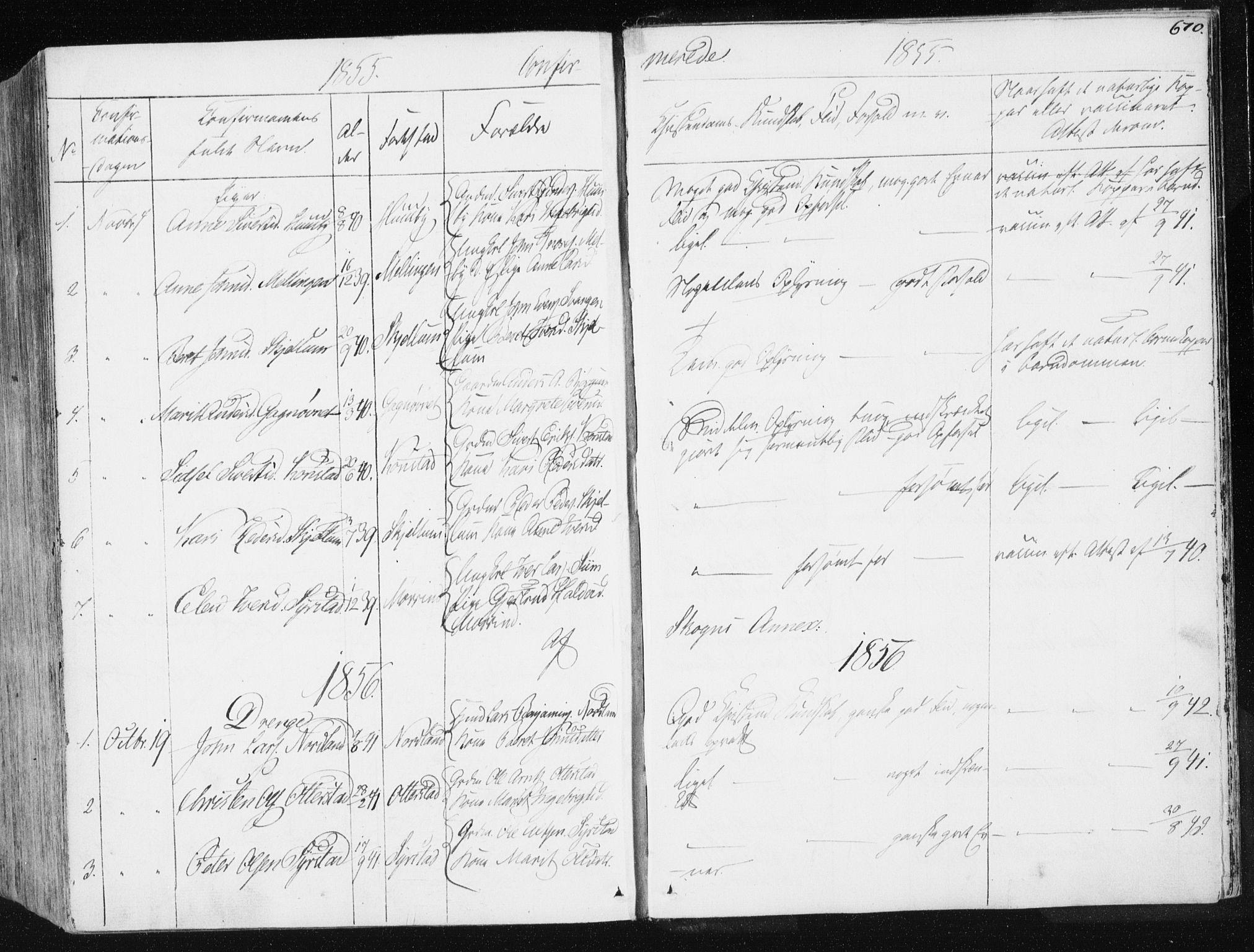 SAT, Ministerialprotokoller, klokkerbøker og fødselsregistre - Sør-Trøndelag, 665/L0771: Ministerialbok nr. 665A06, 1830-1856, s. 670