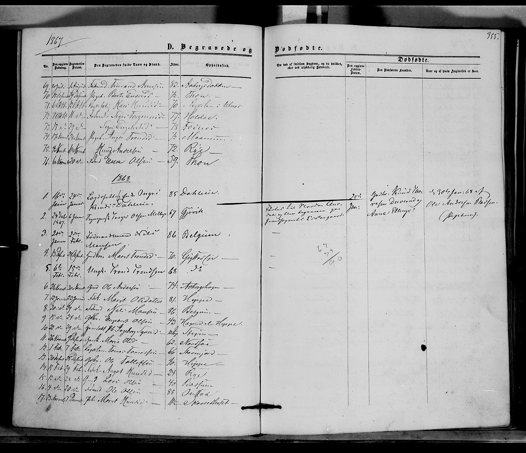 SAH, Nord-Aurdal prestekontor, Ministerialbok nr. 8, 1863-1875, s. 355