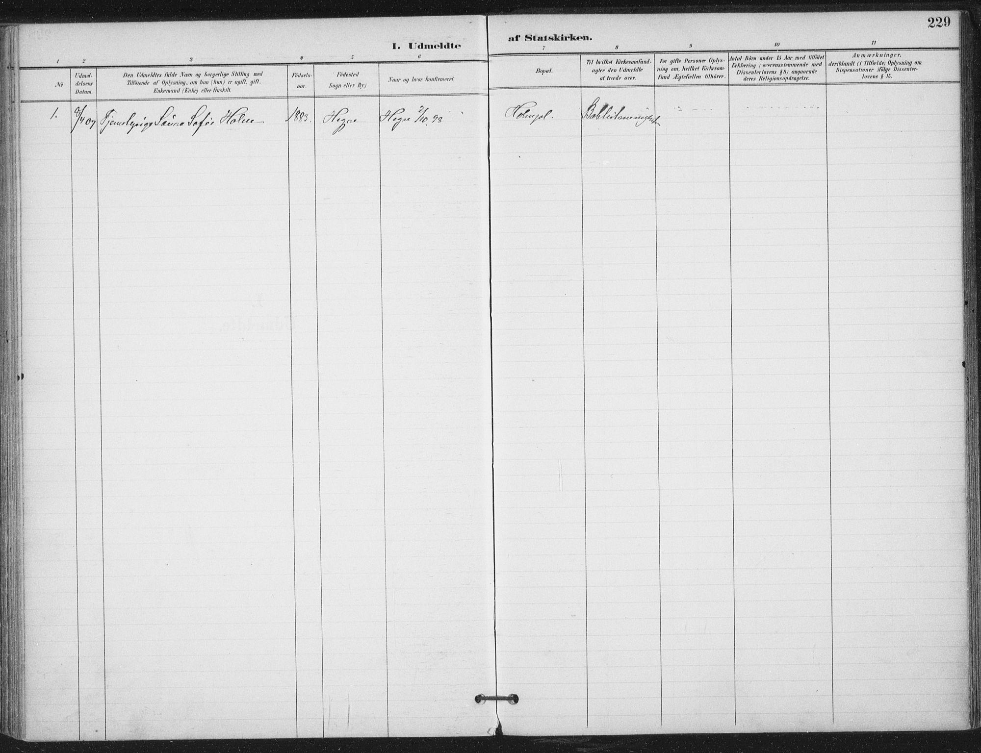 SAT, Ministerialprotokoller, klokkerbøker og fødselsregistre - Nord-Trøndelag, 703/L0031: Ministerialbok nr. 703A04, 1893-1914, s. 229
