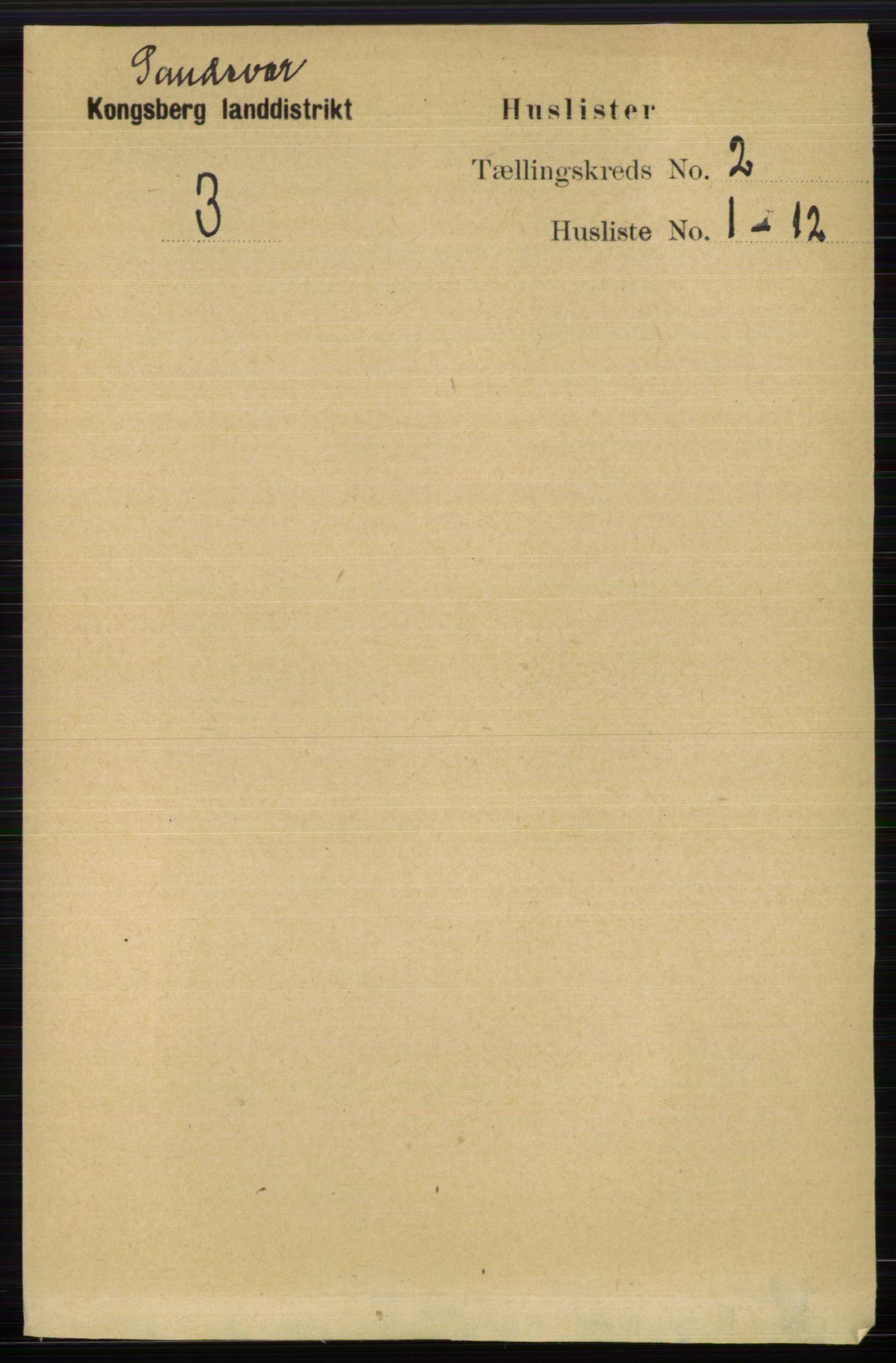 RA, Folketelling 1891 for 0629 Sandsvær herred, 1891, s. 5712
