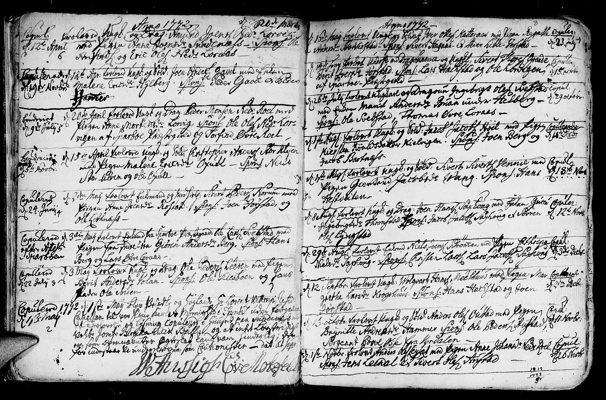 SAT, Ministerialprotokoller, klokkerbøker og fødselsregistre - Nord-Trøndelag, 730/L0273: Ministerialbok nr. 730A02, 1762-1802, s. 8
