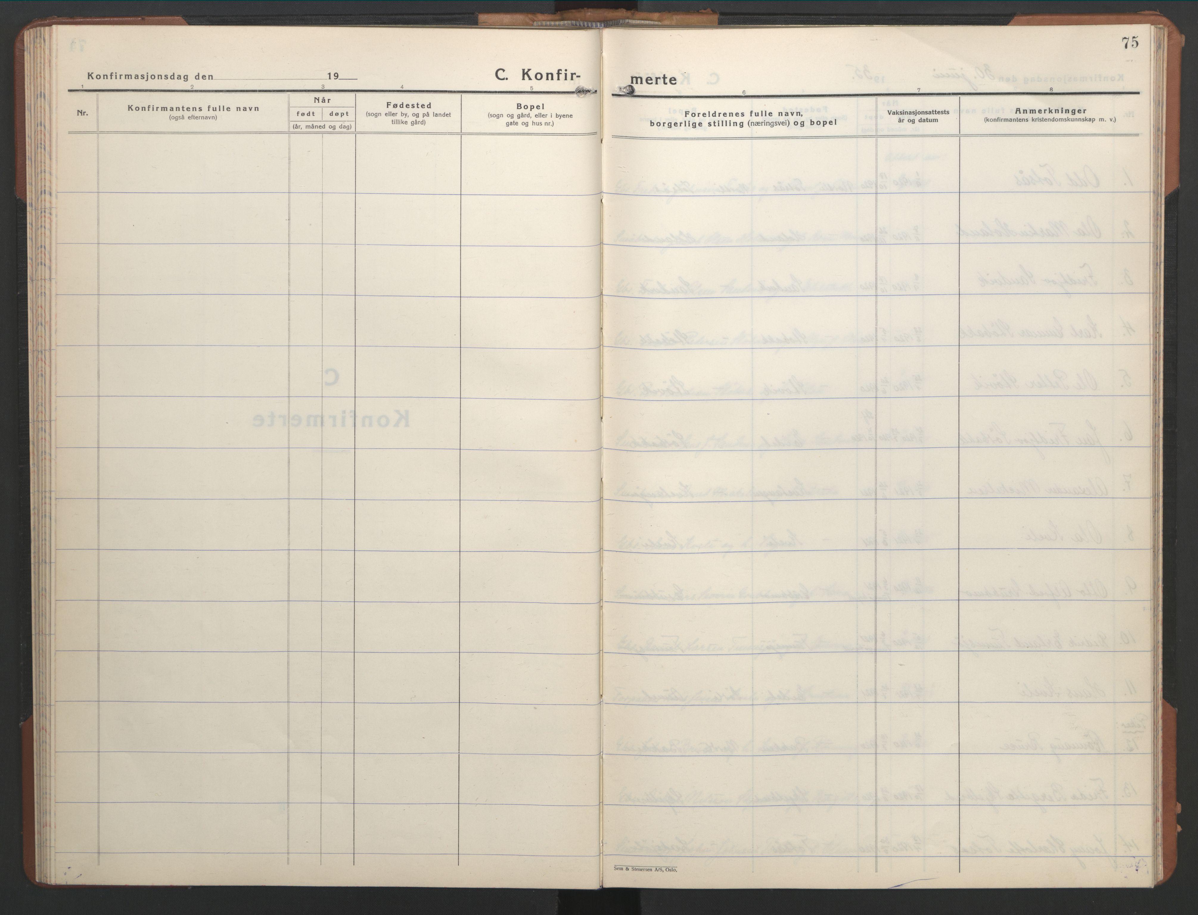 SAT, Ministerialprotokoller, klokkerbøker og fødselsregistre - Nord-Trøndelag, 755/L0500: Klokkerbok nr. 755C01, 1920-1962, s. 75