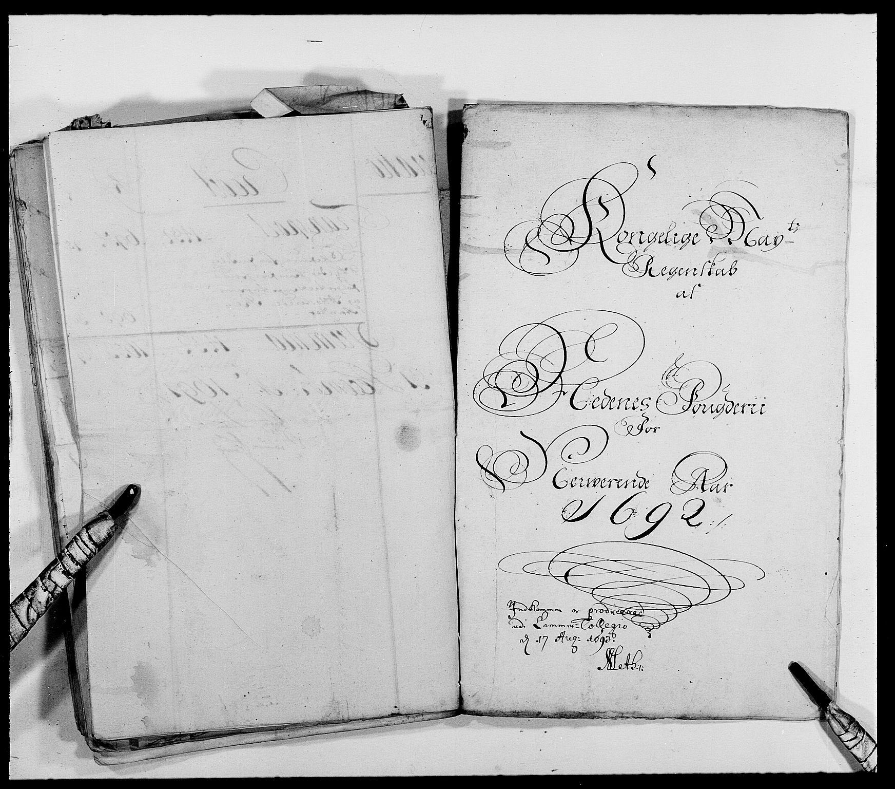 RA, Rentekammeret inntil 1814, Reviderte regnskaper, Fogderegnskap, R39/L2310: Fogderegnskap Nedenes, 1690-1692, s. 41