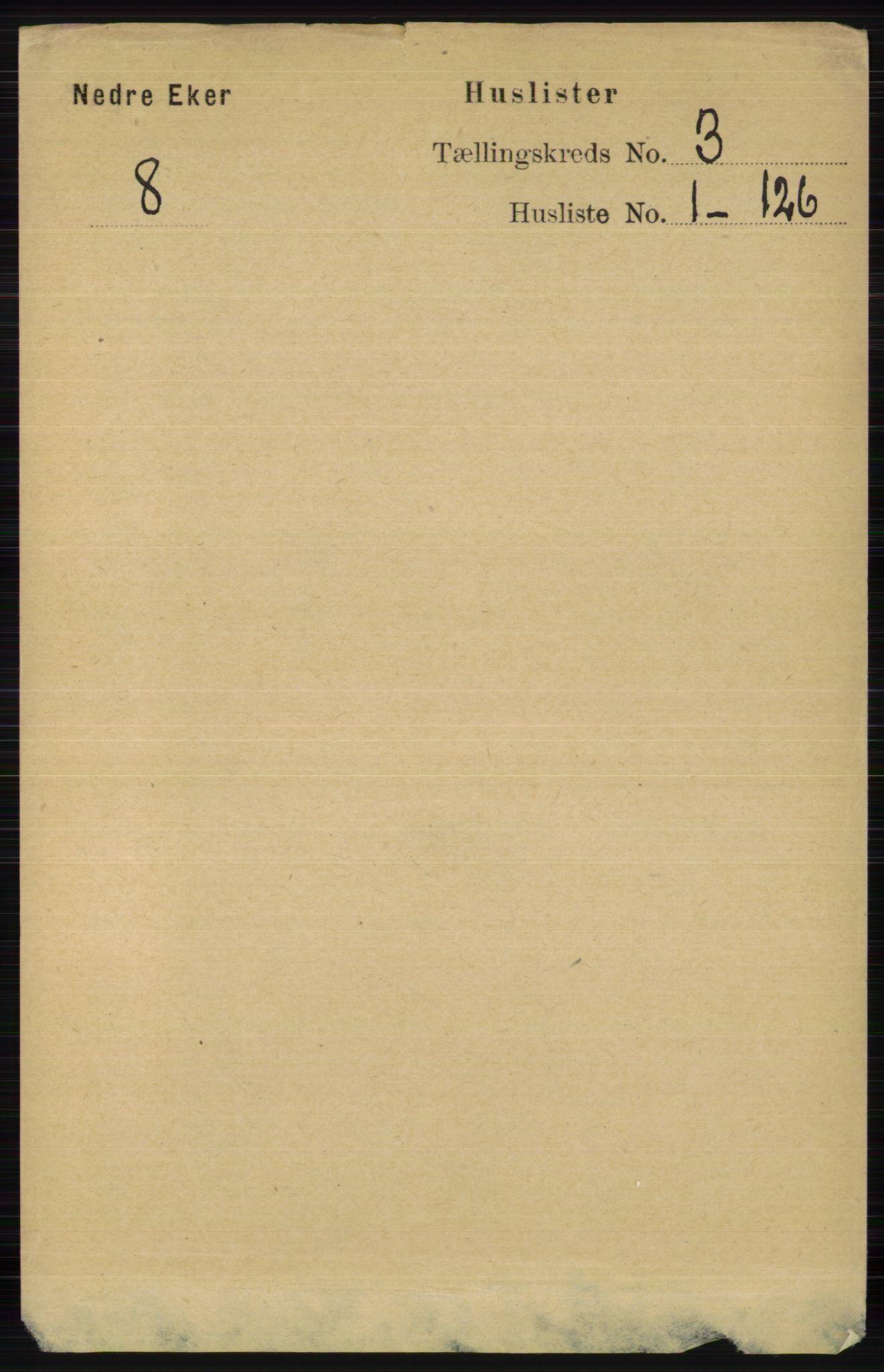 RA, Folketelling 1891 for 0625 Nedre Eiker herred, 1891, s. 1063