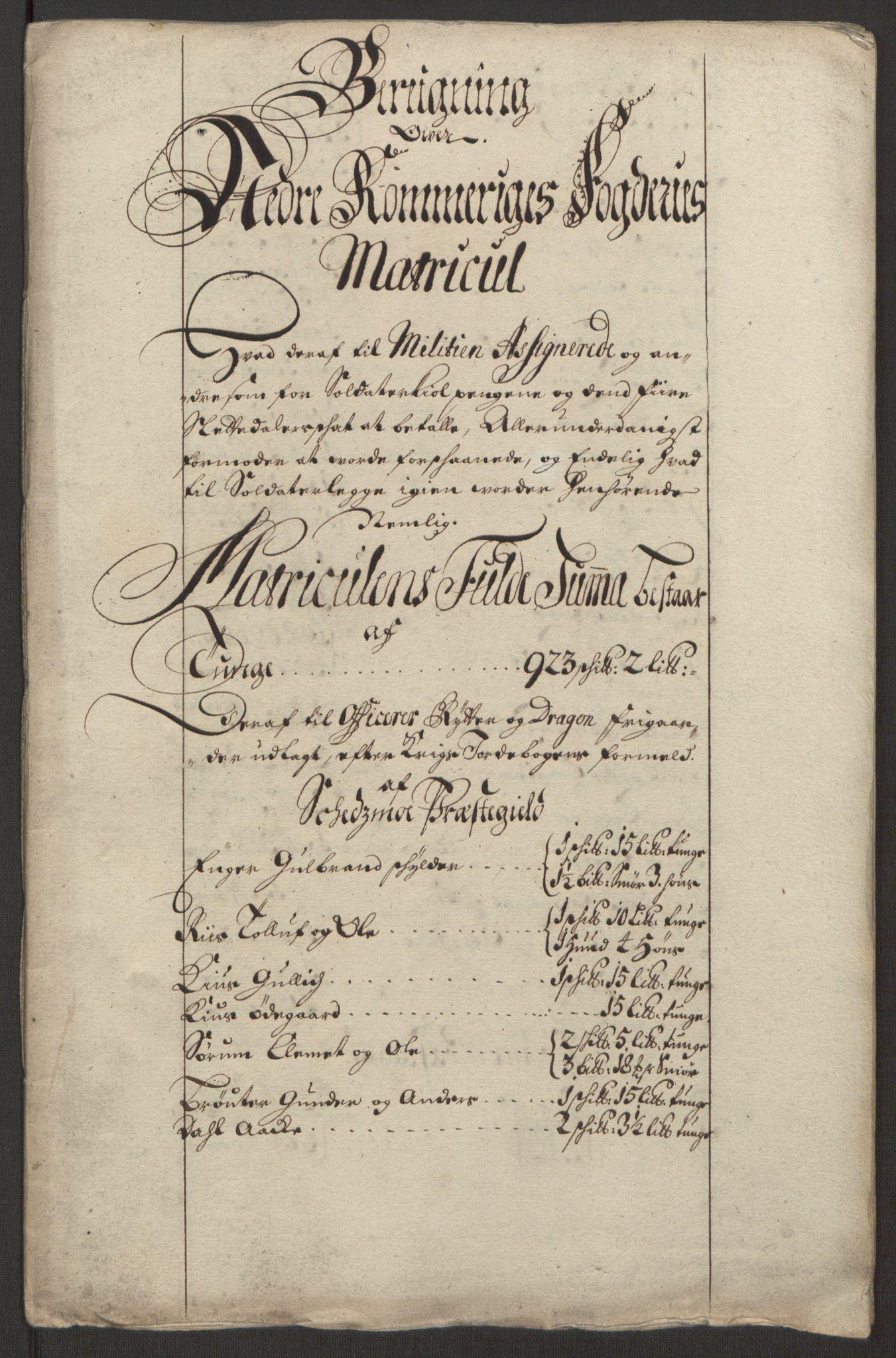 RA, Rentekammeret inntil 1814, Reviderte regnskaper, Fogderegnskap, R11/L0579: Fogderegnskap Nedre Romerike, 1694-1695, s. 388