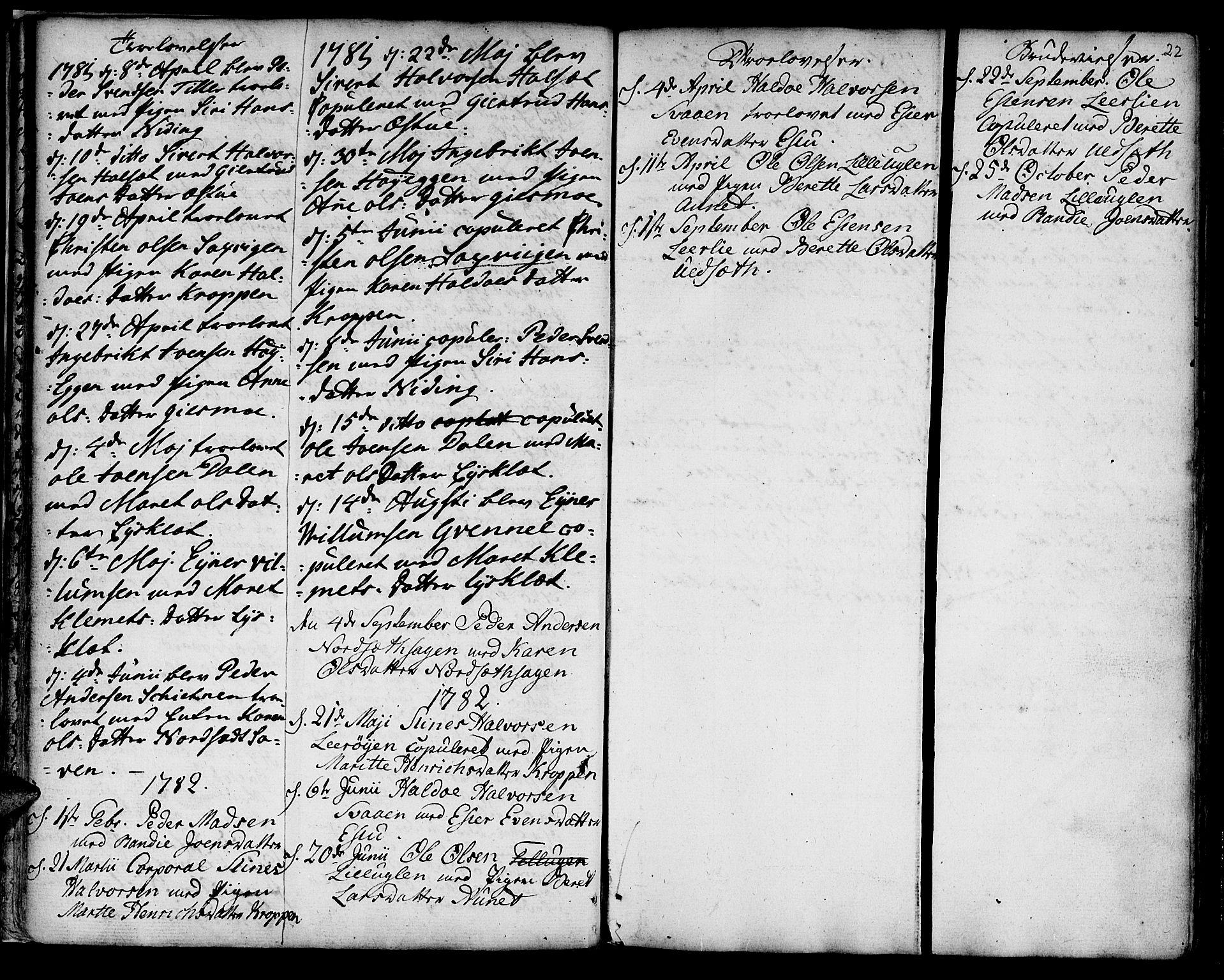SAT, Ministerialprotokoller, klokkerbøker og fødselsregistre - Sør-Trøndelag, 618/L0437: Ministerialbok nr. 618A02, 1749-1782, s. 22
