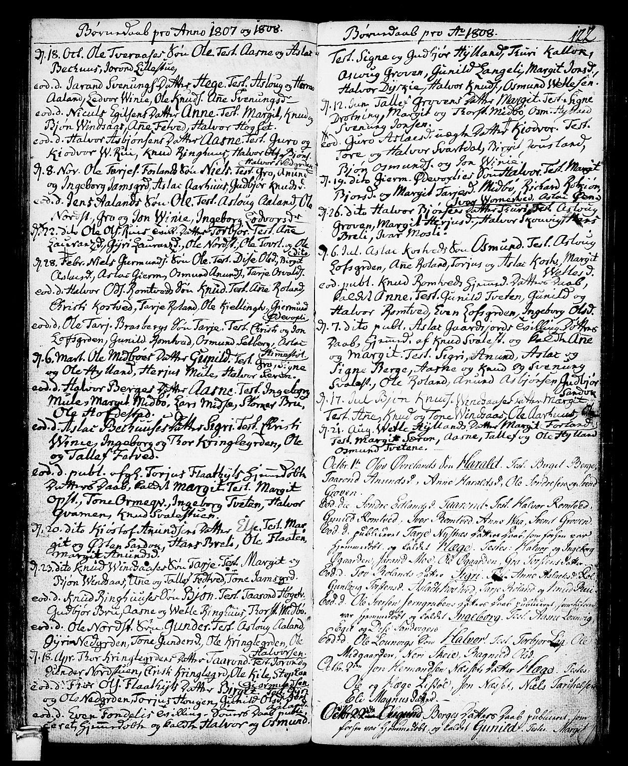 SAKO, Vinje kirkebøker, F/Fa/L0002: Ministerialbok nr. I 2, 1767-1814, s. 122