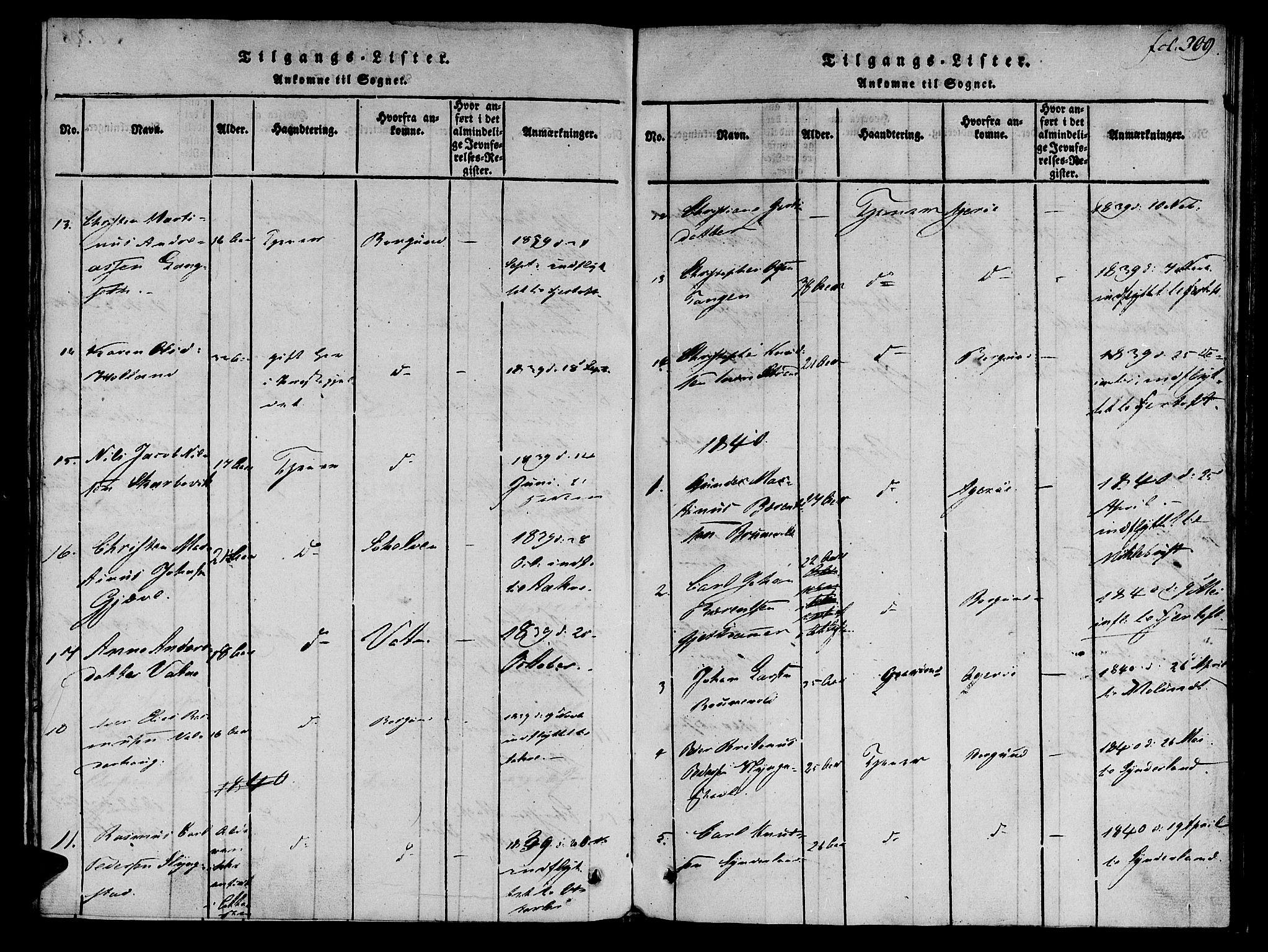SAT, Ministerialprotokoller, klokkerbøker og fødselsregistre - Møre og Romsdal, 536/L0495: Ministerialbok nr. 536A04, 1818-1847, s. 309