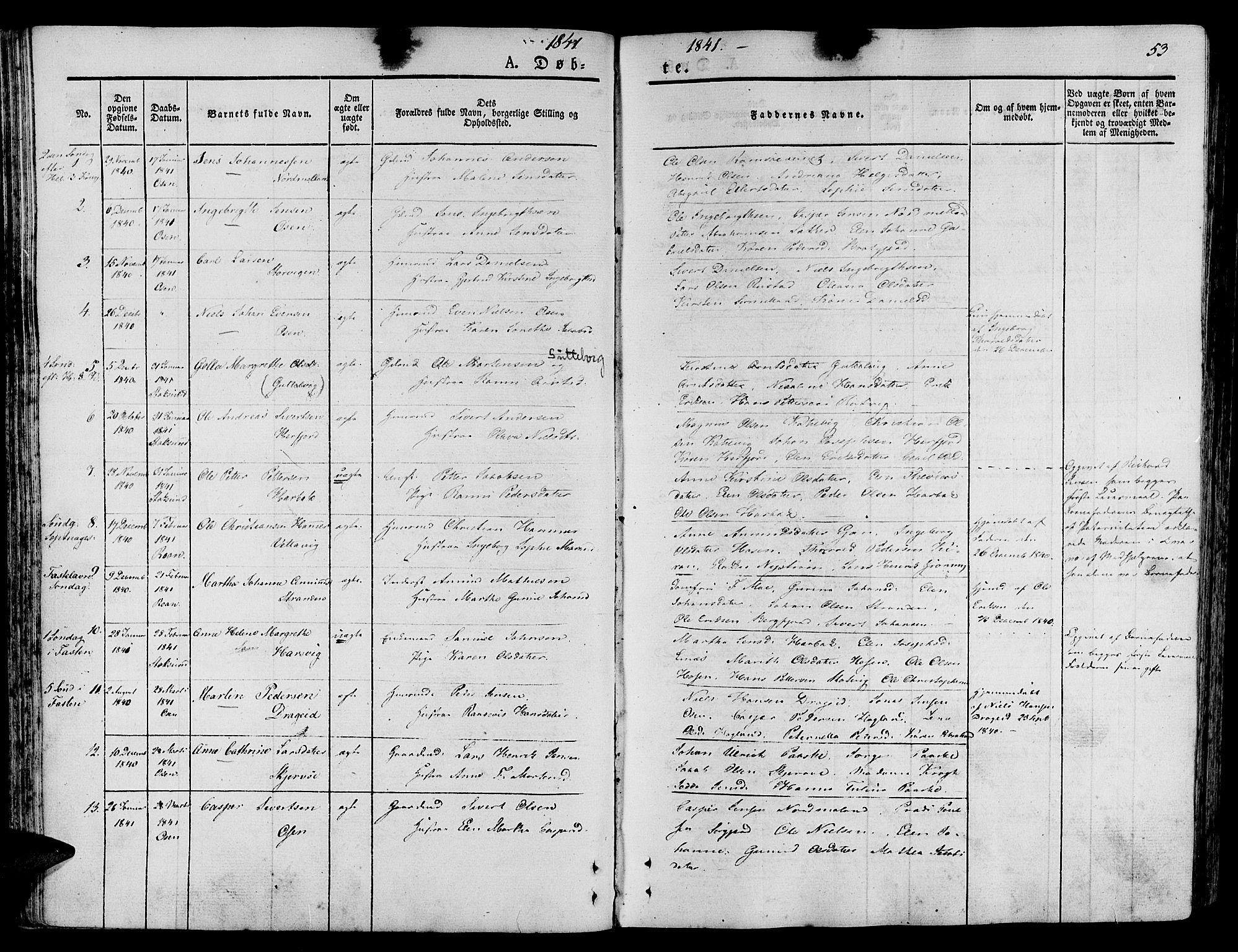 SAT, Ministerialprotokoller, klokkerbøker og fødselsregistre - Sør-Trøndelag, 657/L0703: Ministerialbok nr. 657A04, 1831-1846, s. 53