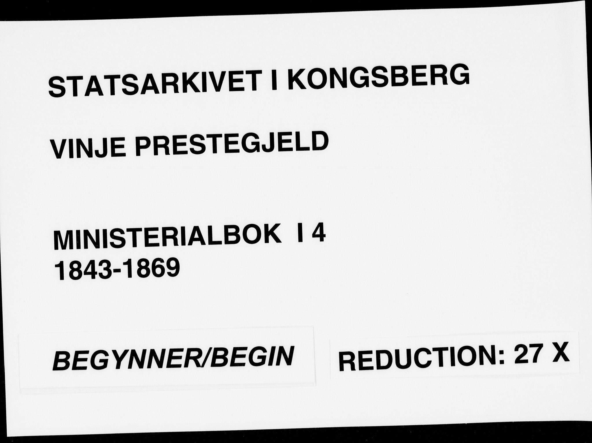 SAKO, Vinje kirkebøker, F/Fa/L0004: Ministerialbok nr. I 4, 1843-1869