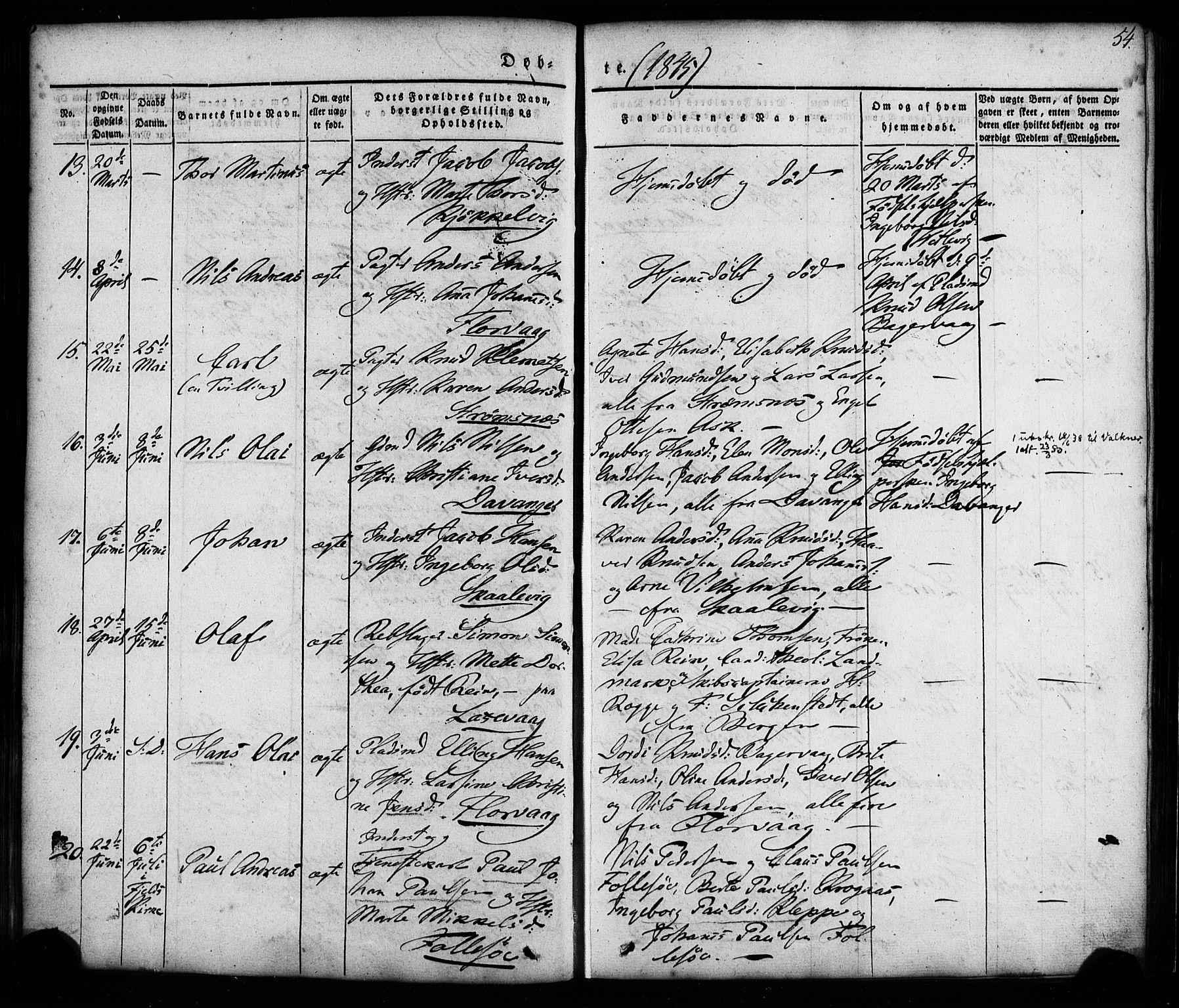 SAB, Askøy Sokneprestembete, H/Ha/Haa/Haaa/L0005: Ministerialbok nr. A 5, 1836-1852, s. 54