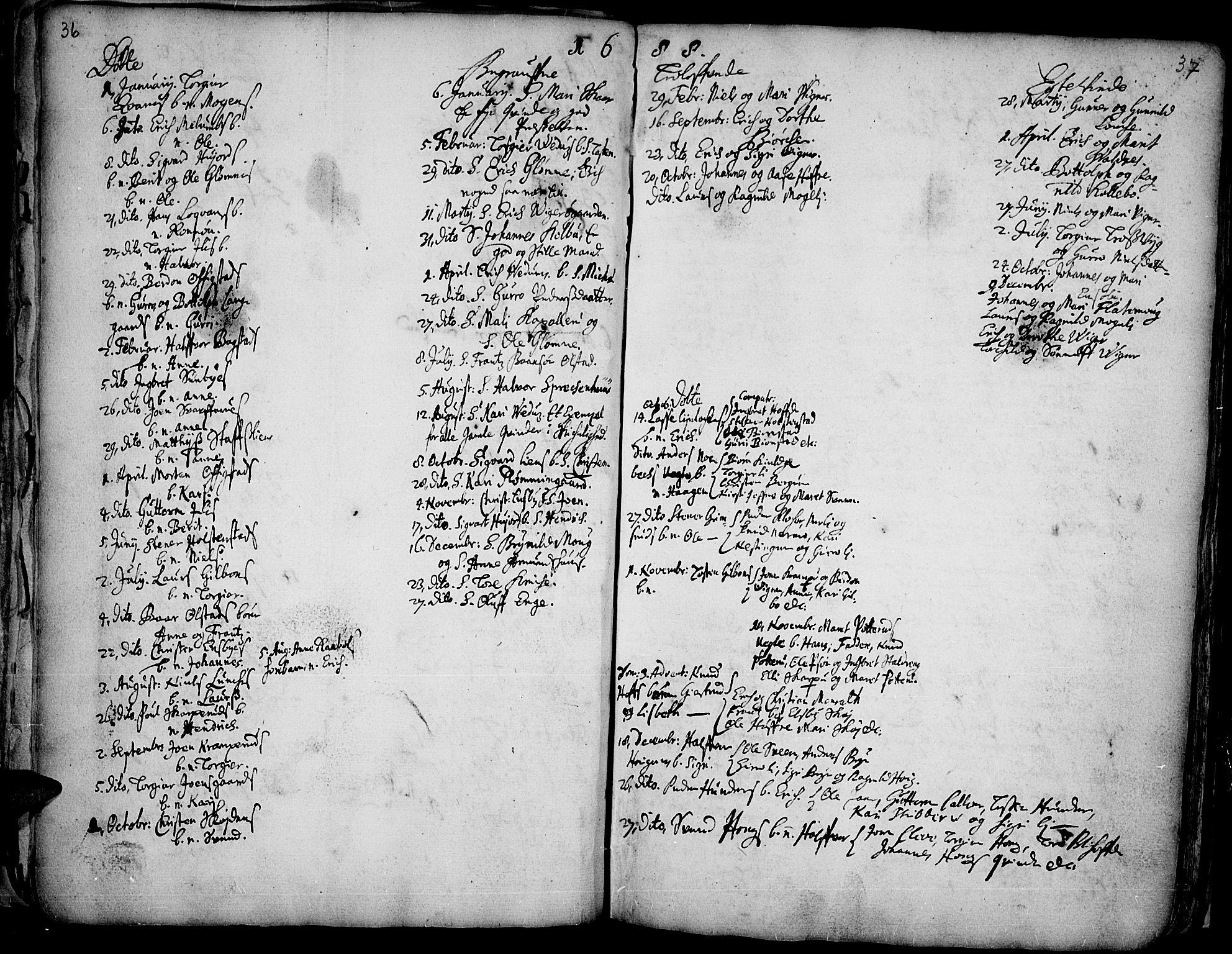 SAH, Øyer prestekontor, Ministerialbok nr. 1, 1671-1727, s. 36-37