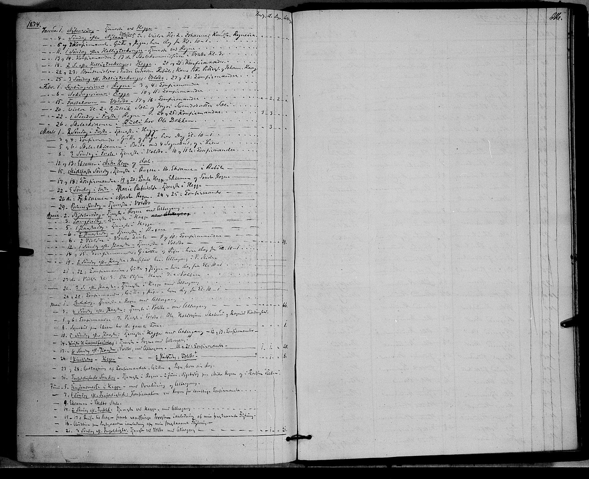 SAH, Øystre Slidre prestekontor, Ministerialbok nr. 1, 1849-1874, s. 316