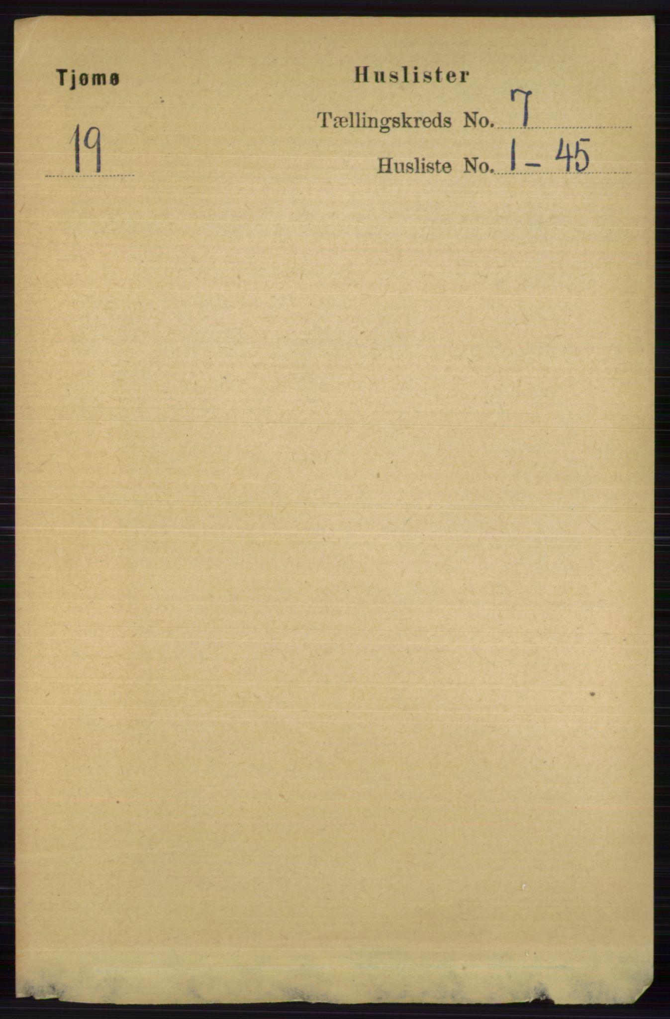 RA, Folketelling 1891 for 0723 Tjøme herred, 1891, s. 2412