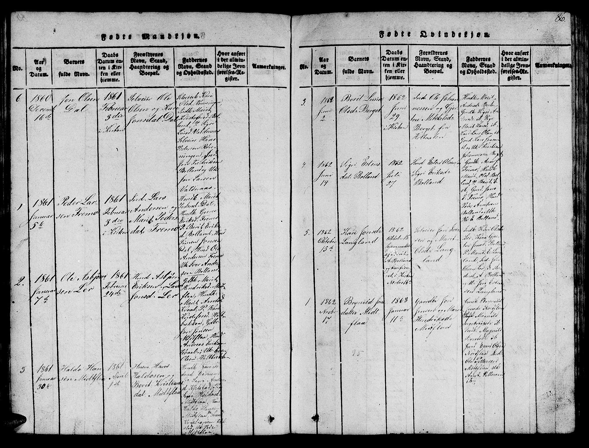 SAT, Ministerialprotokoller, klokkerbøker og fødselsregistre - Sør-Trøndelag, 693/L1121: Klokkerbok nr. 693C02, 1816-1869, s. 86