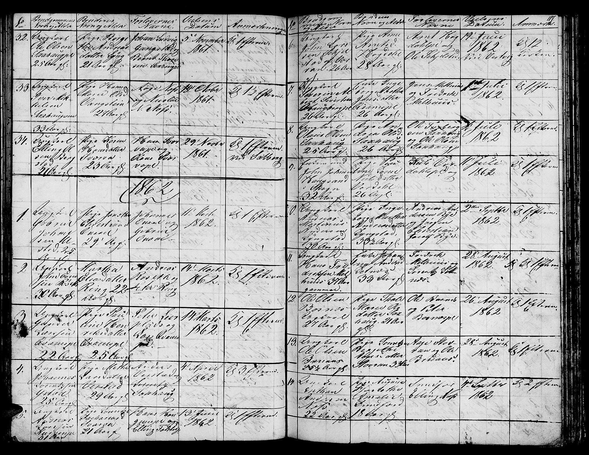 SAT, Ministerialprotokoller, klokkerbøker og fødselsregistre - Nord-Trøndelag, 730/L0299: Klokkerbok nr. 730C02, 1849-1871, s. 117