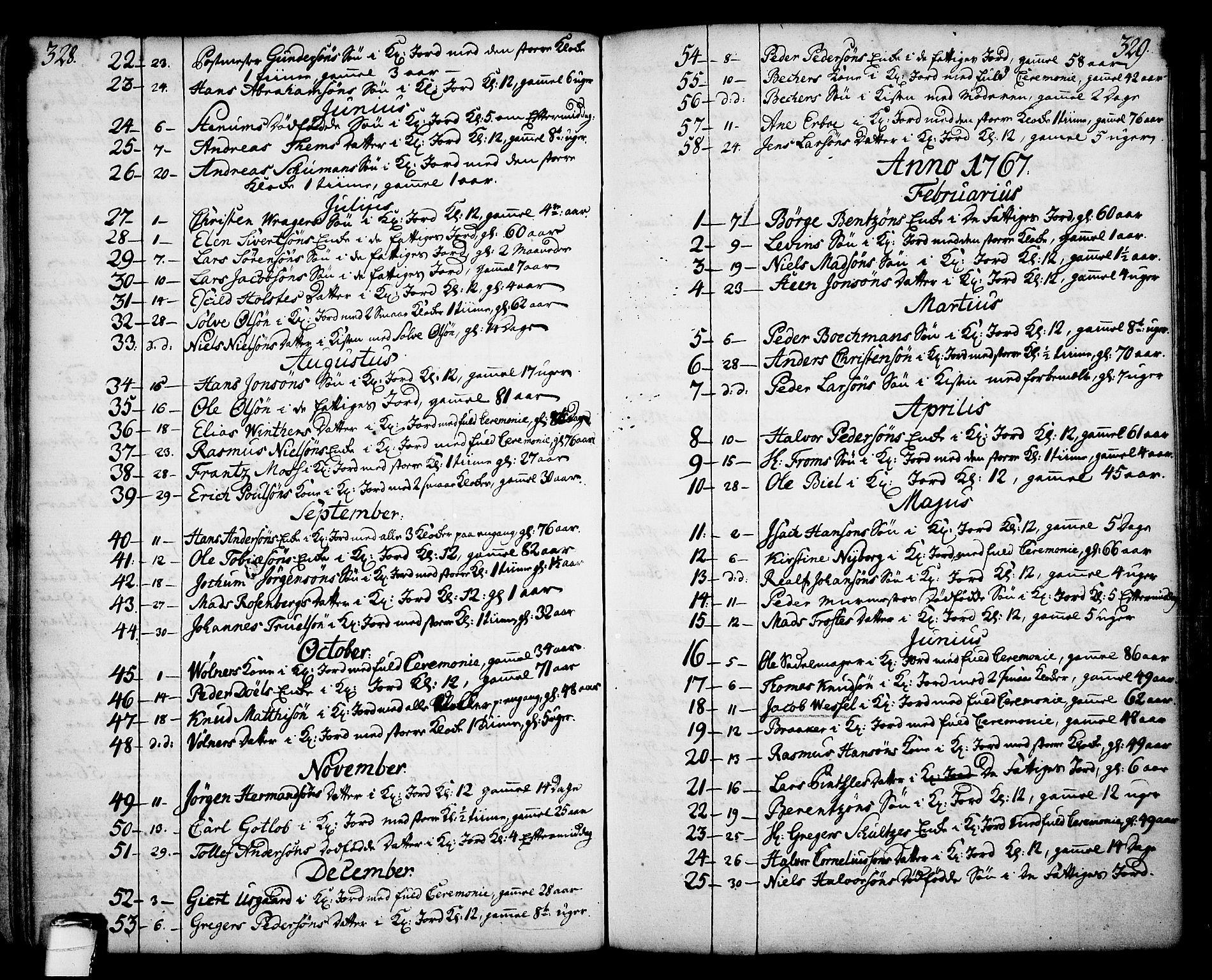 SAKO, Skien kirkebøker, F/Fa/L0003: Ministerialbok nr. 3, 1755-1791, s. 328-329