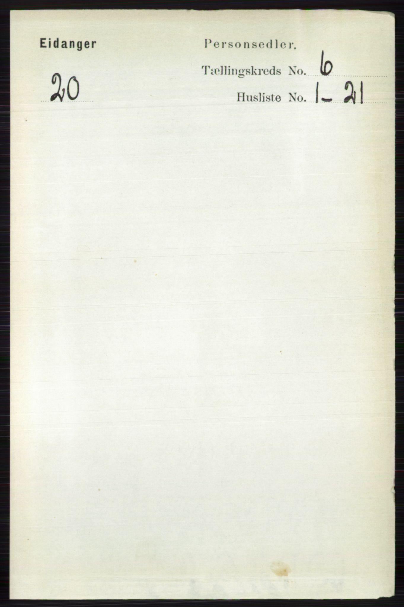 RA, Folketelling 1891 for 0813 Eidanger herred, 1891, s. 2567