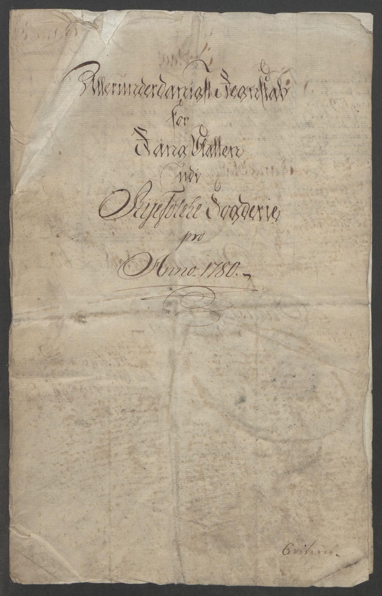 RA, Rentekammeret inntil 1814, Reviderte regnskaper, Fogderegnskap, R47/L2972: Ekstraskatten Ryfylke, 1762-1780, s. 629