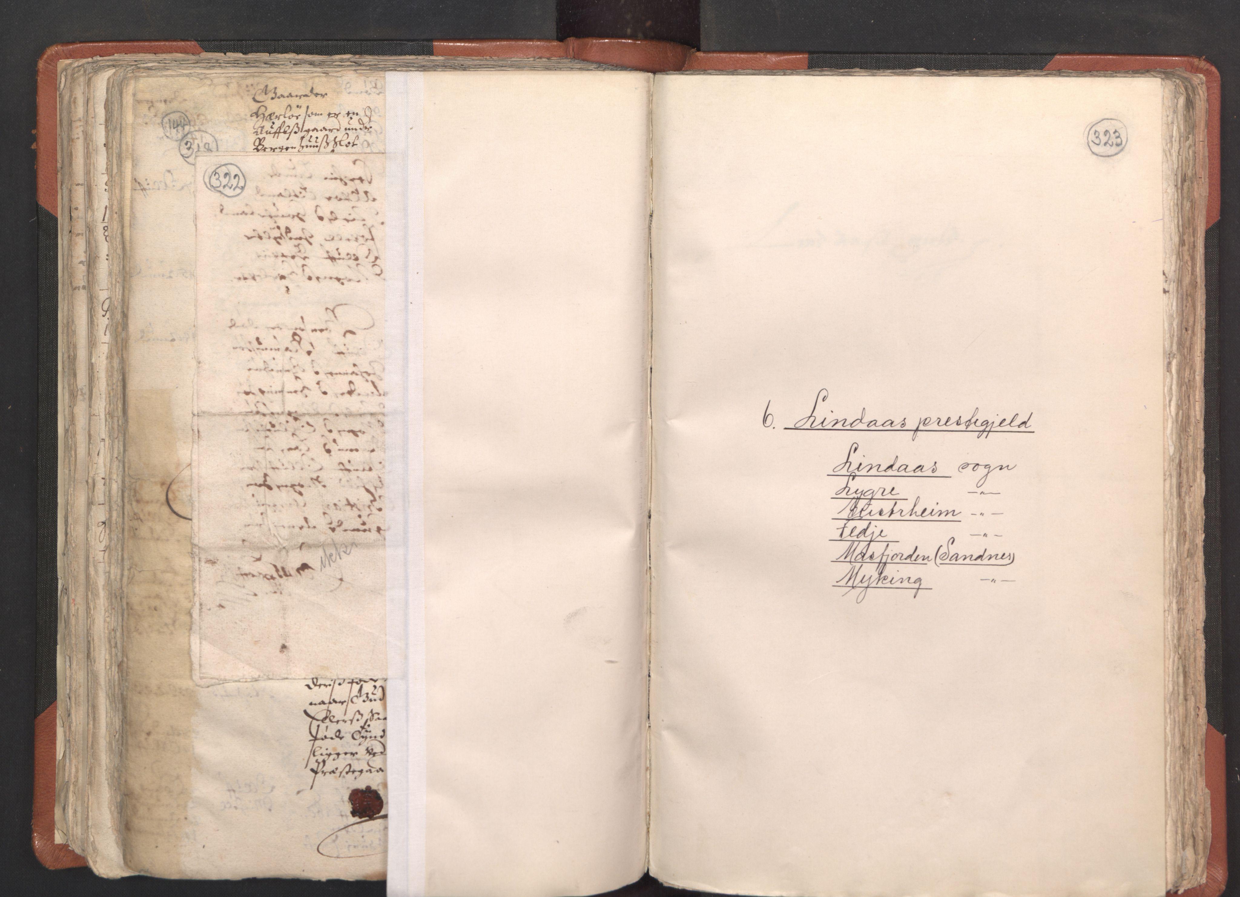 RA, Sogneprestenes manntall 1664-1666, nr. 22: Nordhordland prosti, 1664-1666, s. 322-323