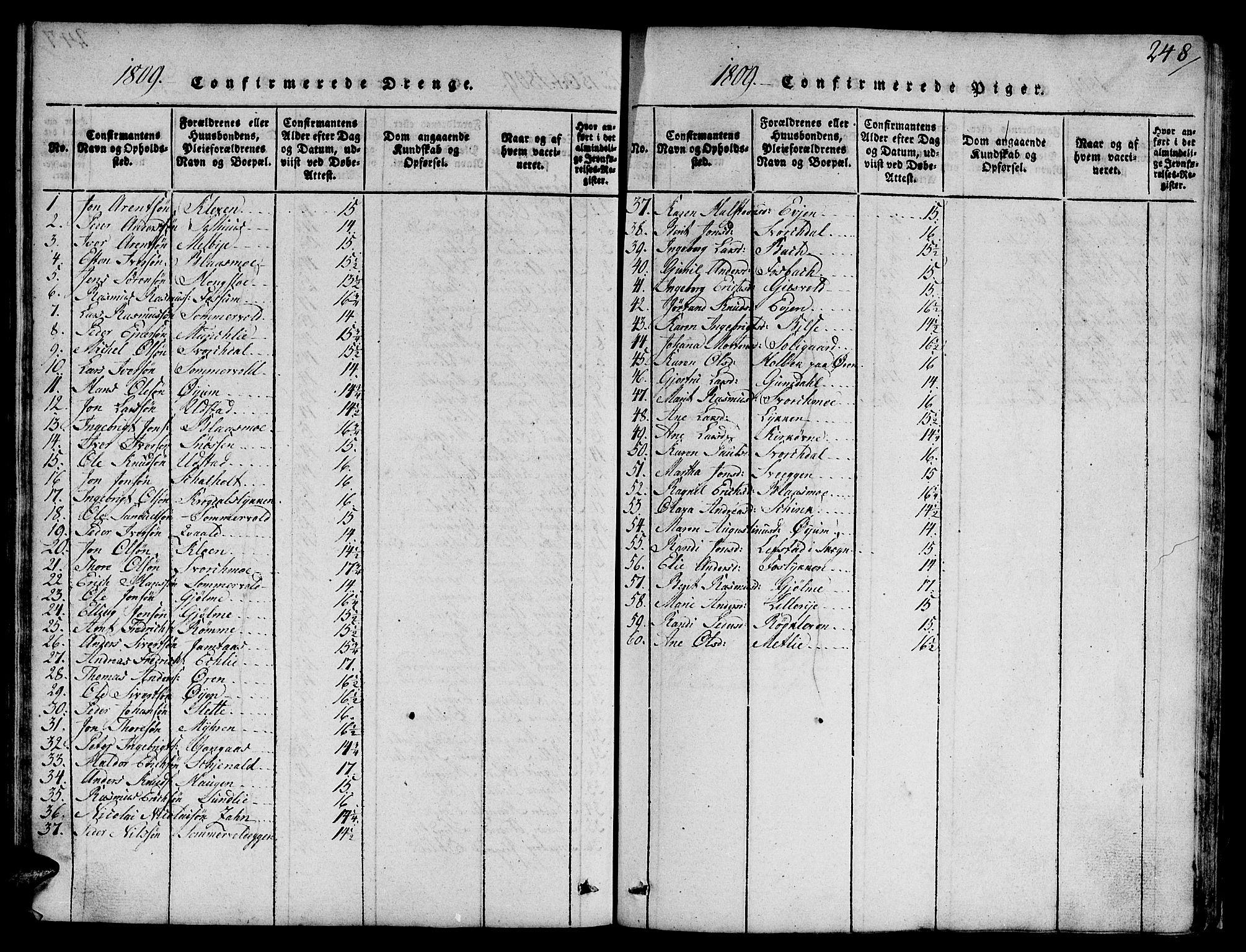 SAT, Ministerialprotokoller, klokkerbøker og fødselsregistre - Sør-Trøndelag, 668/L0803: Ministerialbok nr. 668A03, 1800-1826, s. 248