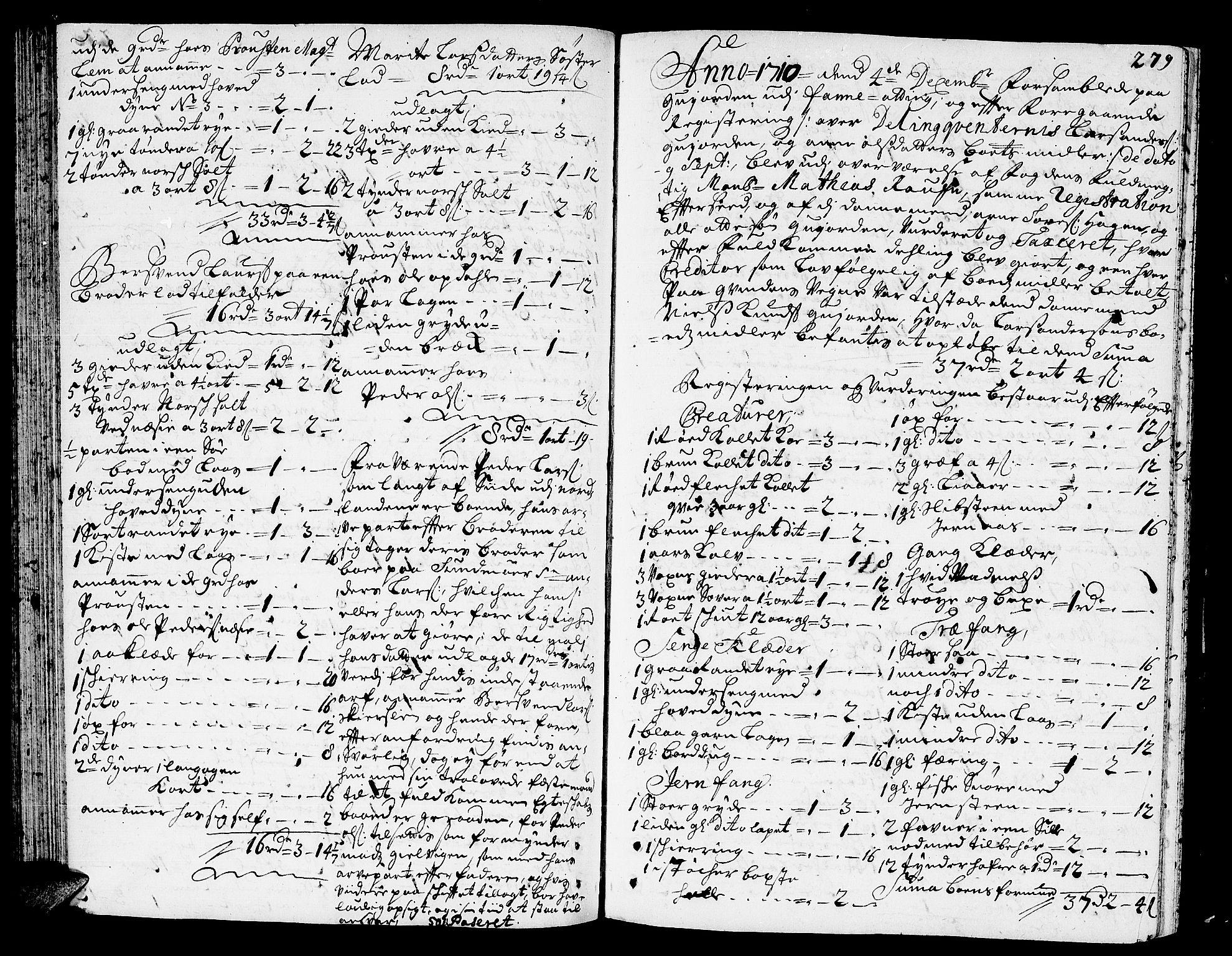 SAT, Romsdal sorenskriveri, 3/3A/L0005: Skifteprotokoll, 1707-1711, s. 278b-279a