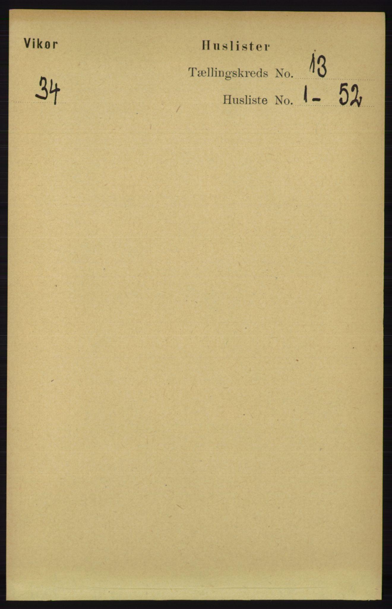 RA, Folketelling 1891 for 1238 Vikør herred, 1891, s. 3561