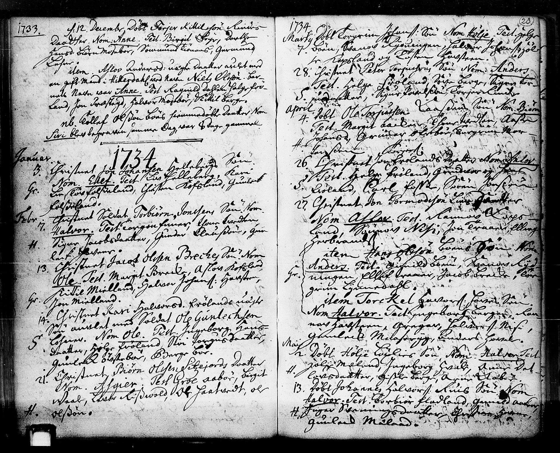 SAKO, Hjartdal kirkebøker, F/Fa/L0003: Ministerialbok nr. I 3, 1727-1775, s. 23