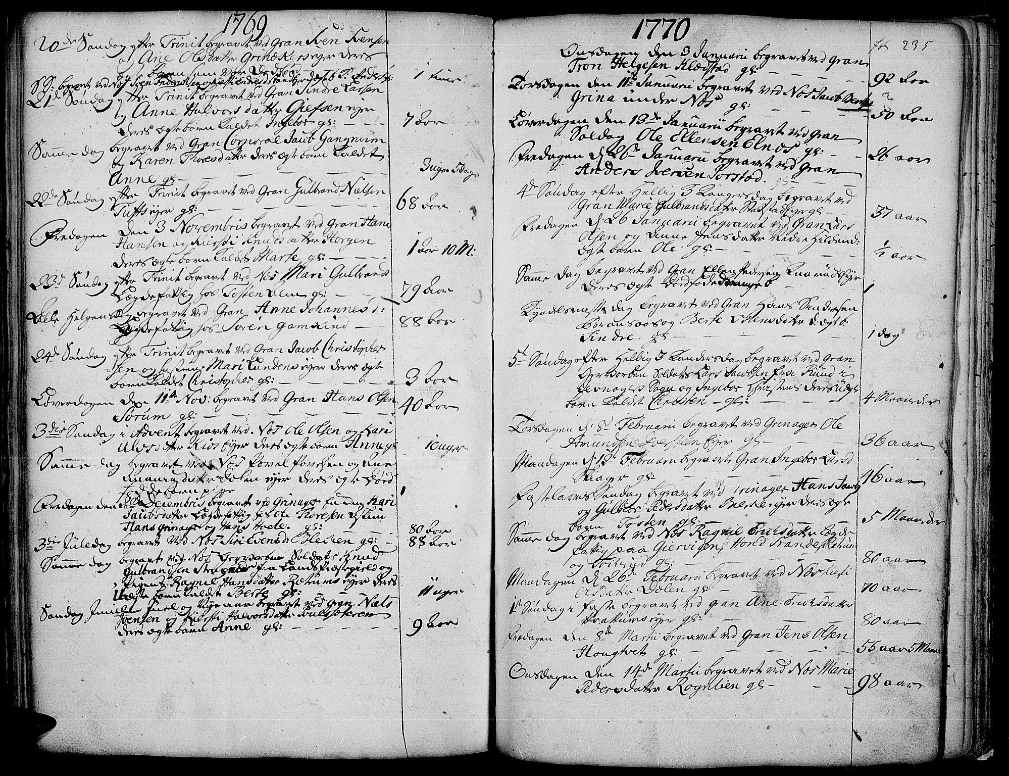 SAH, Gran prestekontor, Ministerialbok nr. 4, 1759-1775, s. 235