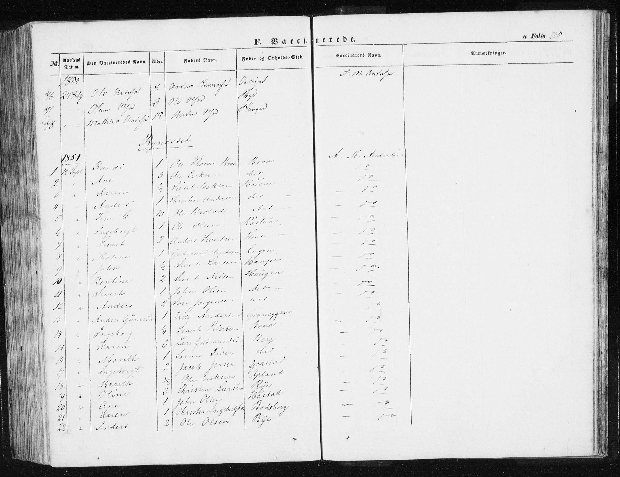 SAT, Ministerialprotokoller, klokkerbøker og fødselsregistre - Sør-Trøndelag, 612/L0376: Ministerialbok nr. 612A08, 1846-1859, s. 305