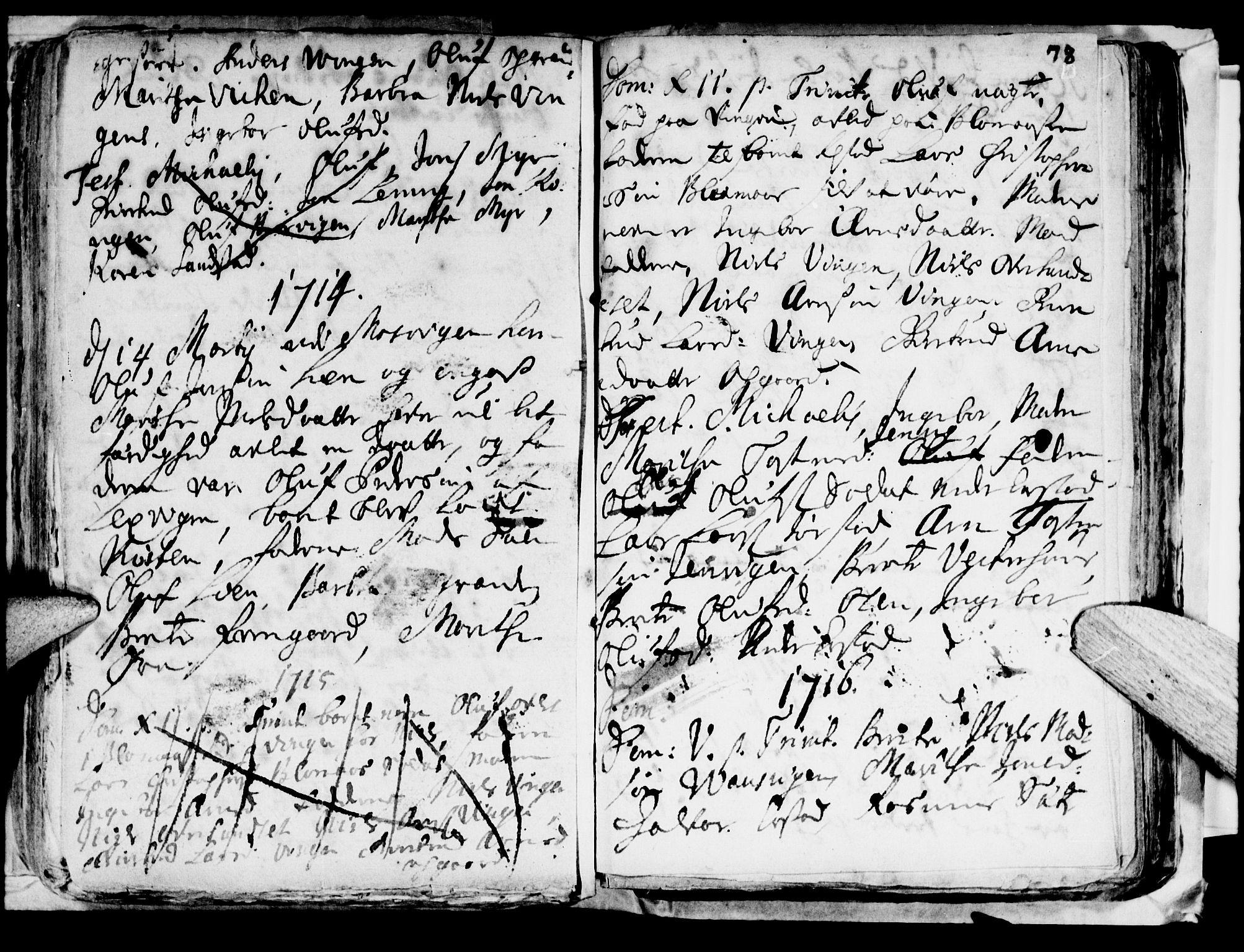 SAT, Ministerialprotokoller, klokkerbøker og fødselsregistre - Nord-Trøndelag, 722/L0214: Ministerialbok nr. 722A01, 1692-1718, s. 78