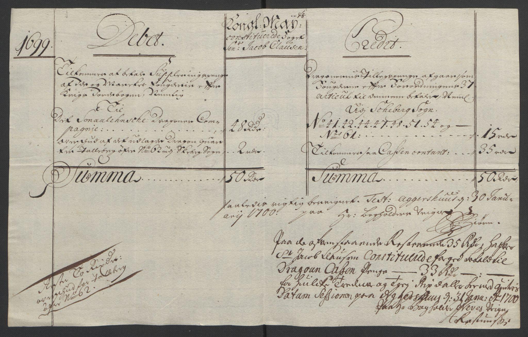 RA, Rentekammeret inntil 1814, Reviderte regnskaper, Fogderegnskap, R01/L0014: Fogderegnskap Idd og Marker, 1699, s. 128