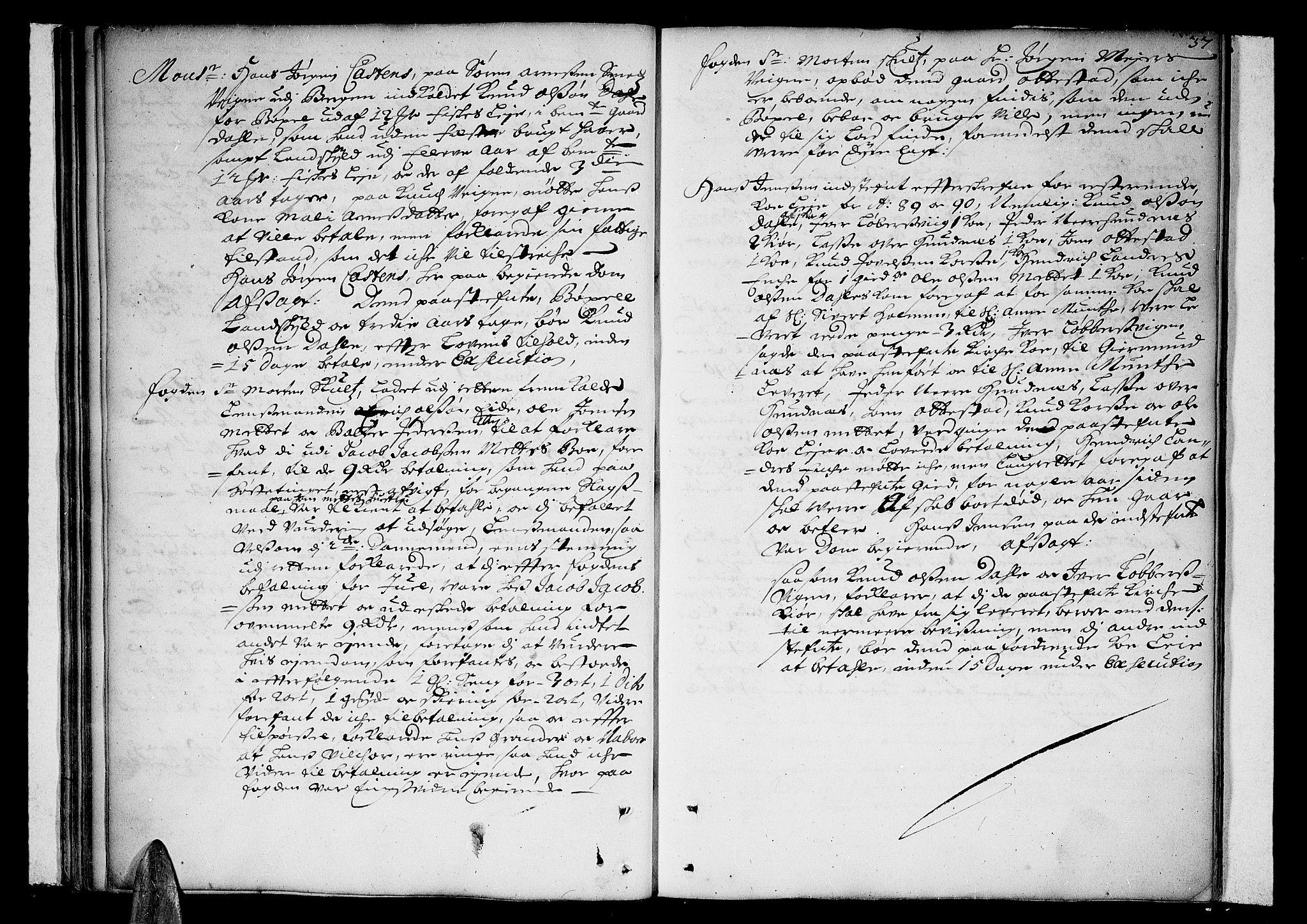 SAT, Romsdal sorenskriveri, 1/1A/L0002: Tingbok, 1690-1693, s. 36b-37a