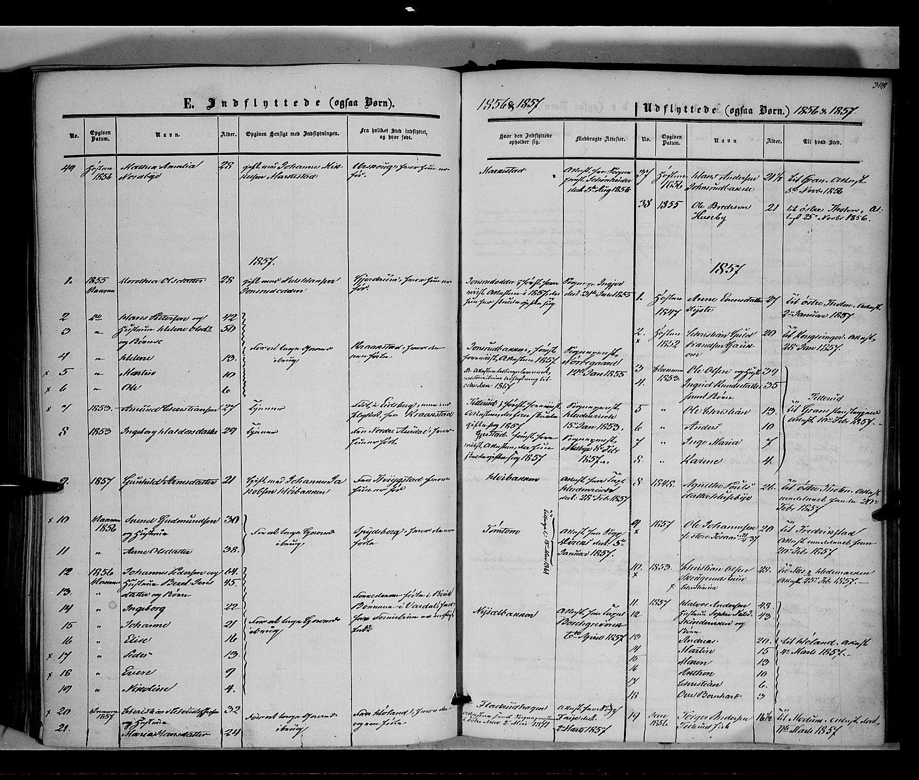SAH, Vestre Toten prestekontor, H/Ha/Haa/L0006: Ministerialbok nr. 6, 1856-1861, s. 308