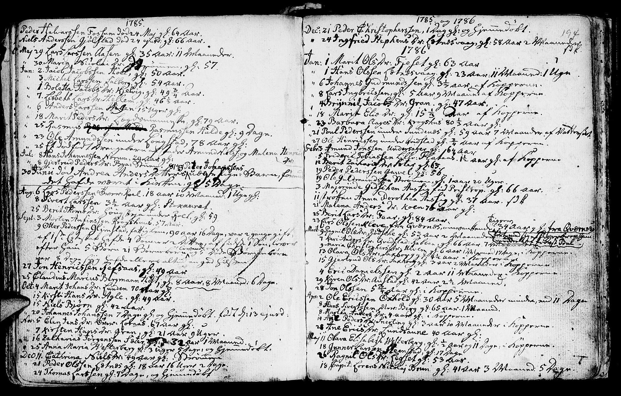 SAT, Ministerialprotokoller, klokkerbøker og fødselsregistre - Nord-Trøndelag, 730/L0273: Ministerialbok nr. 730A02, 1762-1802, s. 194