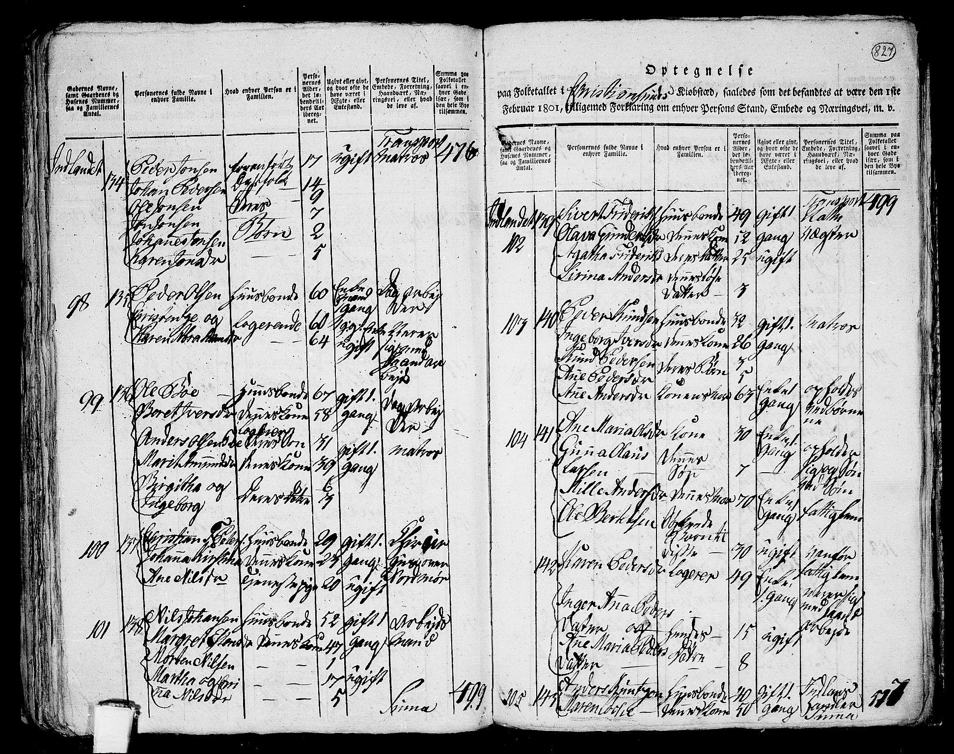 RA, Folketelling 1801 for 1553P Kvernes prestegjeld, 1801, s. 826b-827a