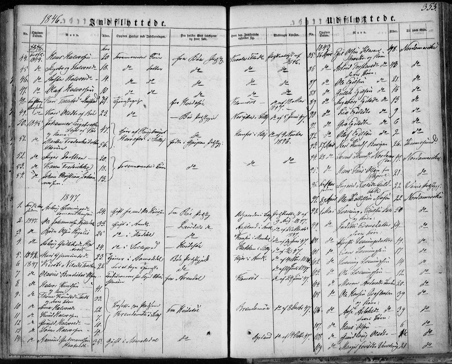 SAKO, Seljord kirkebøker, F/Fa/L0011: Ministerialbok nr. I 11, 1831-1849, s. 353