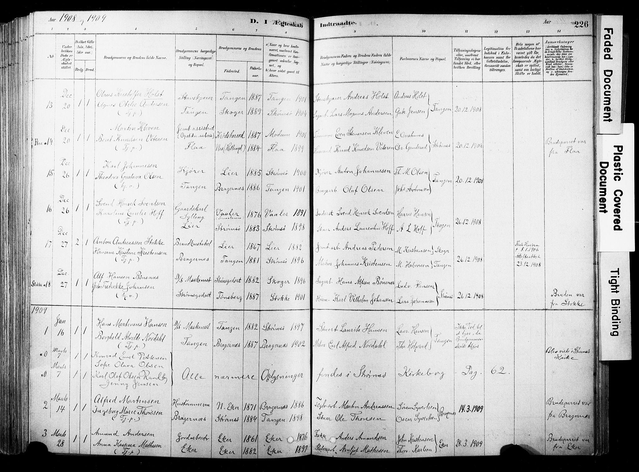SAKO, Strømsø kirkebøker, F/Fb/L0006: Ministerialbok nr. II 6, 1879-1910, s. 226