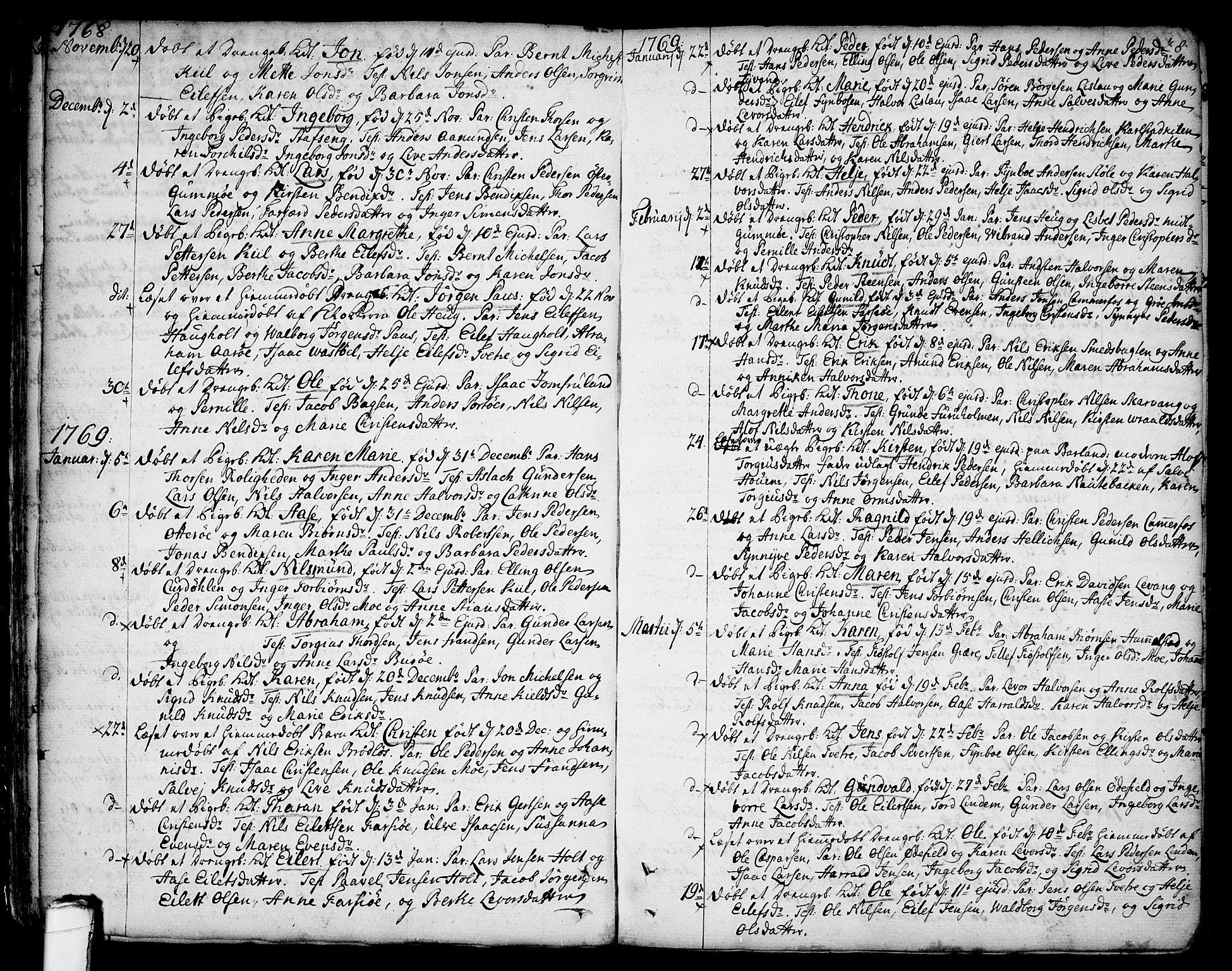 SAKO, Sannidal kirkebøker, F/Fa/L0002: Ministerialbok nr. 2, 1767-1802, s. 28