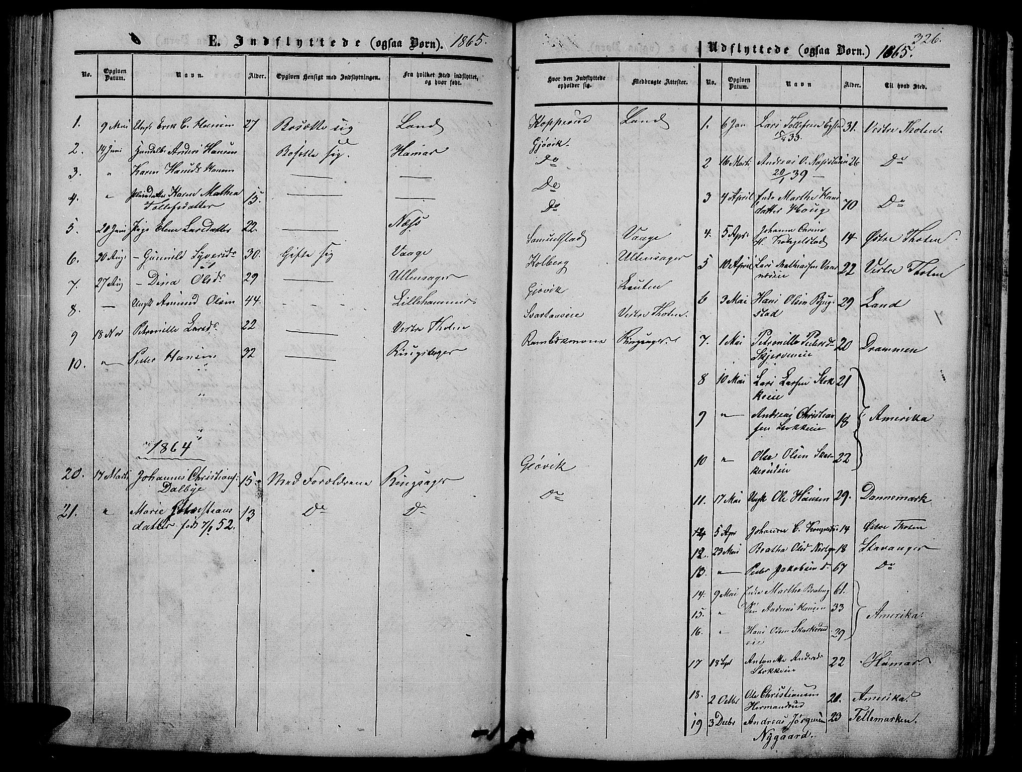 SAH, Vardal prestekontor, H/Ha/Hab/L0005: Klokkerbok nr. 5, 1854-1868, s. 326