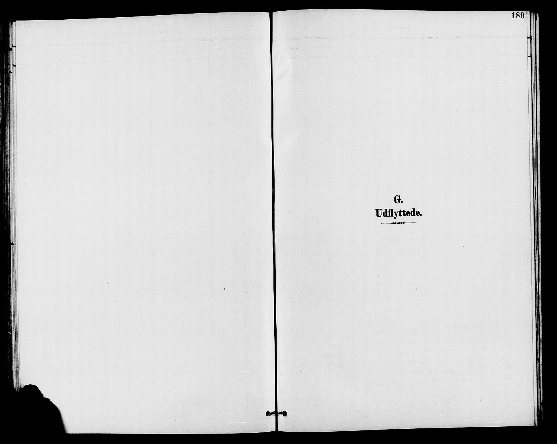 SAH, Vardal prestekontor, H/Ha/Hab/L0011: Klokkerbok nr. 11, 1899-1913, s. 189