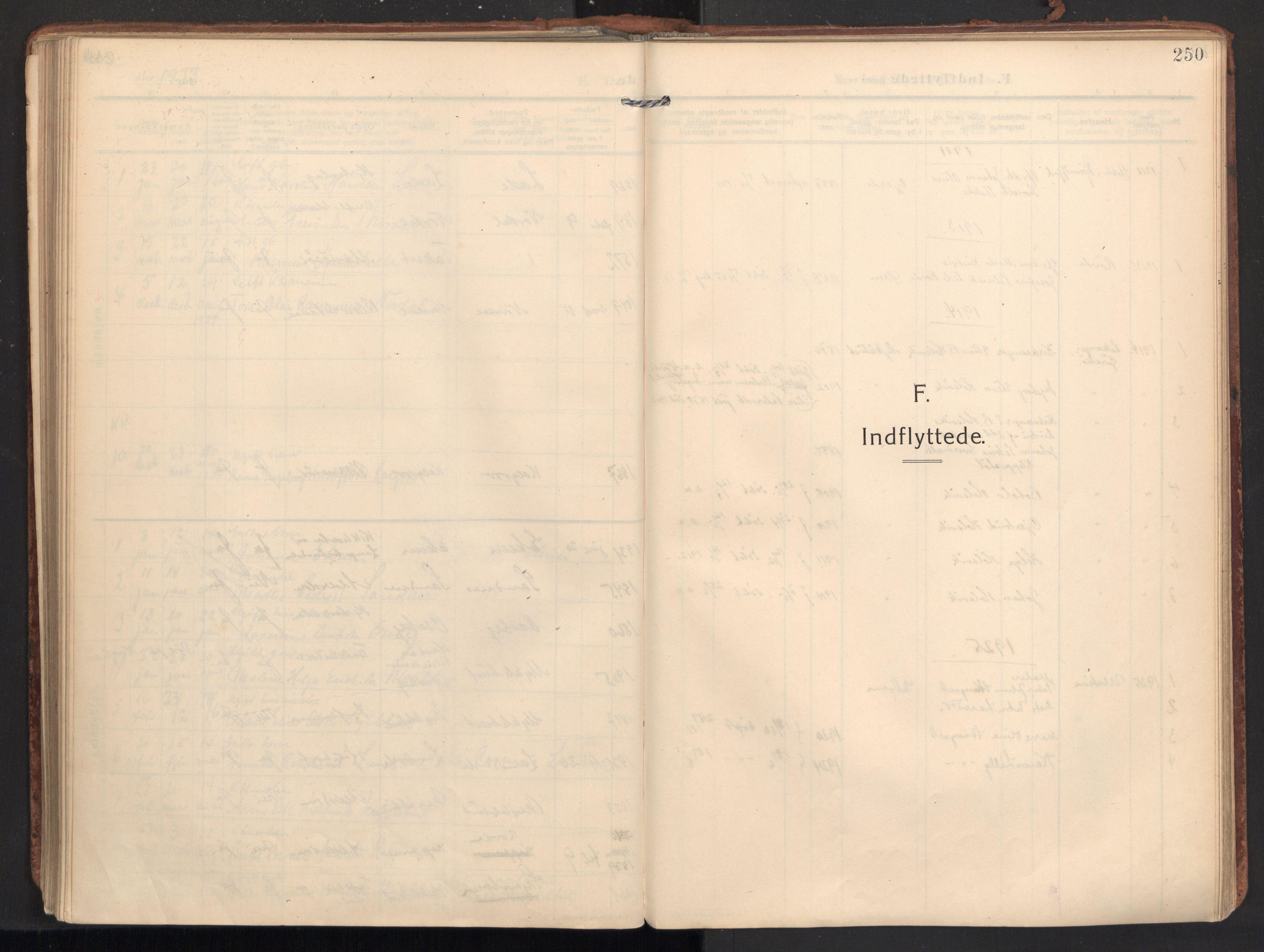 SAT, Ministerialprotokoller, klokkerbøker og fødselsregistre - Møre og Romsdal, 502/L0026: Ministerialbok nr. 502A04, 1909-1933, s. 250