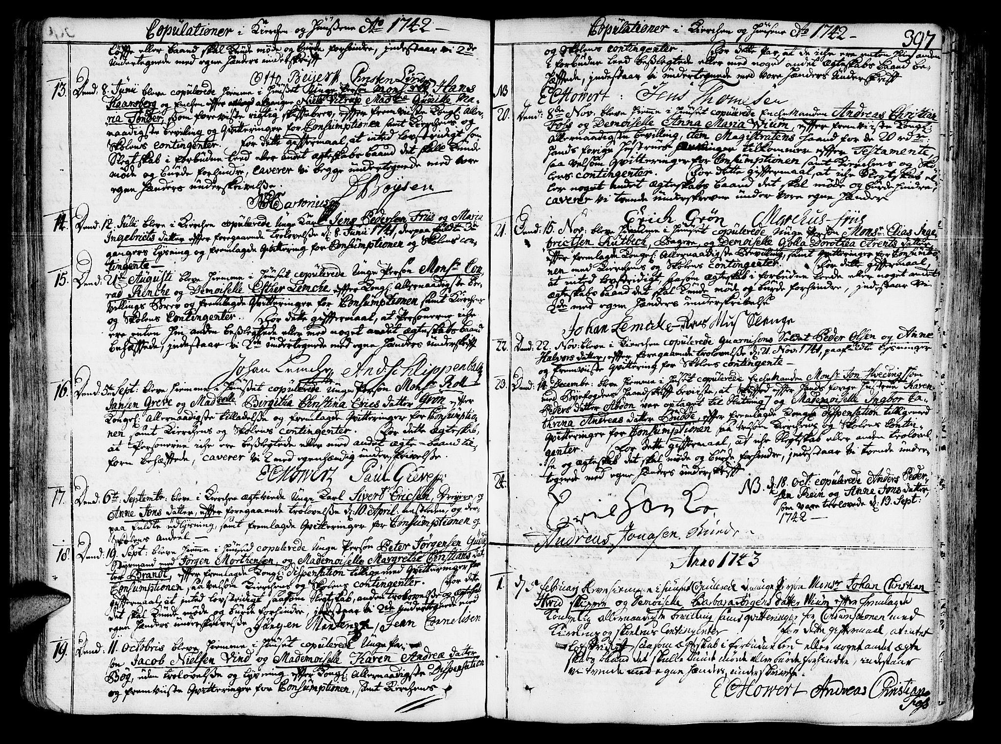 SAT, Ministerialprotokoller, klokkerbøker og fødselsregistre - Sør-Trøndelag, 602/L0103: Ministerialbok nr. 602A01, 1732-1774, s. 397