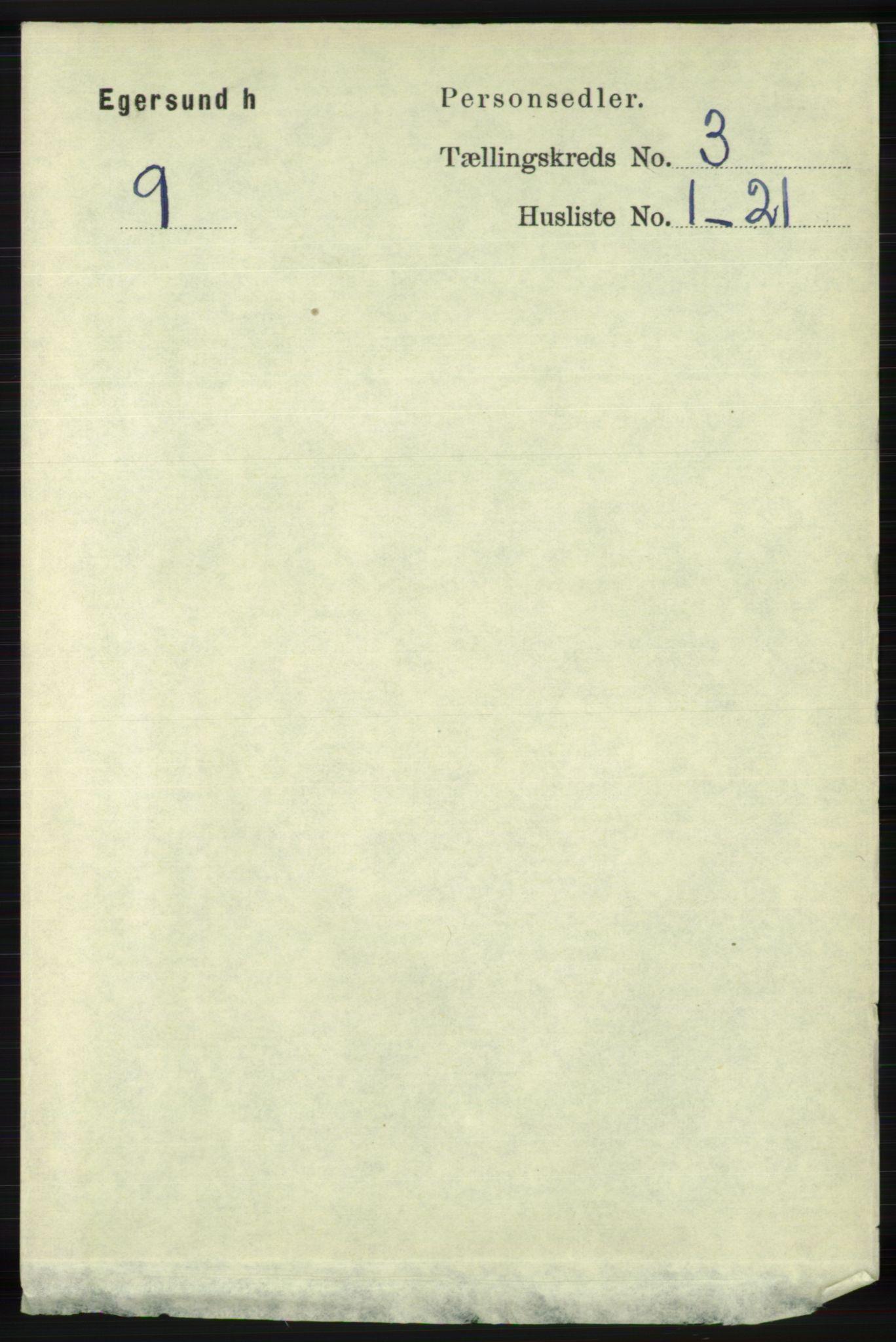 RA, Folketelling 1891 for 1116 Eigersund herred, 1891, s. 1054
