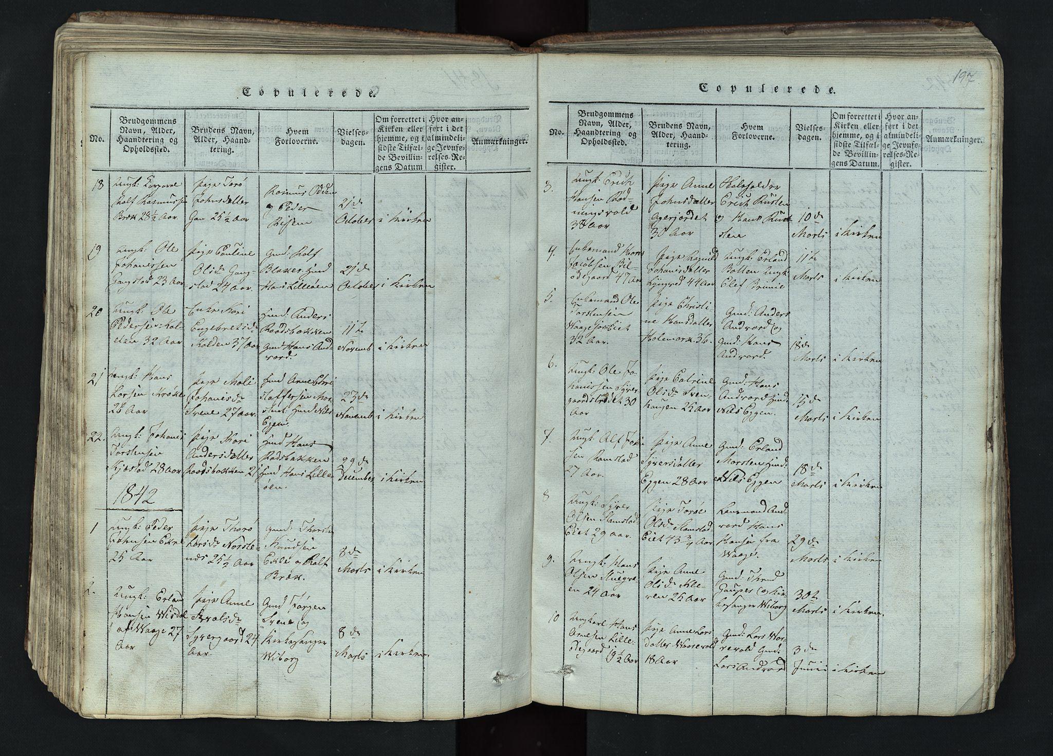SAH, Lom prestekontor, L/L0002: Klokkerbok nr. 2, 1815-1844, s. 197