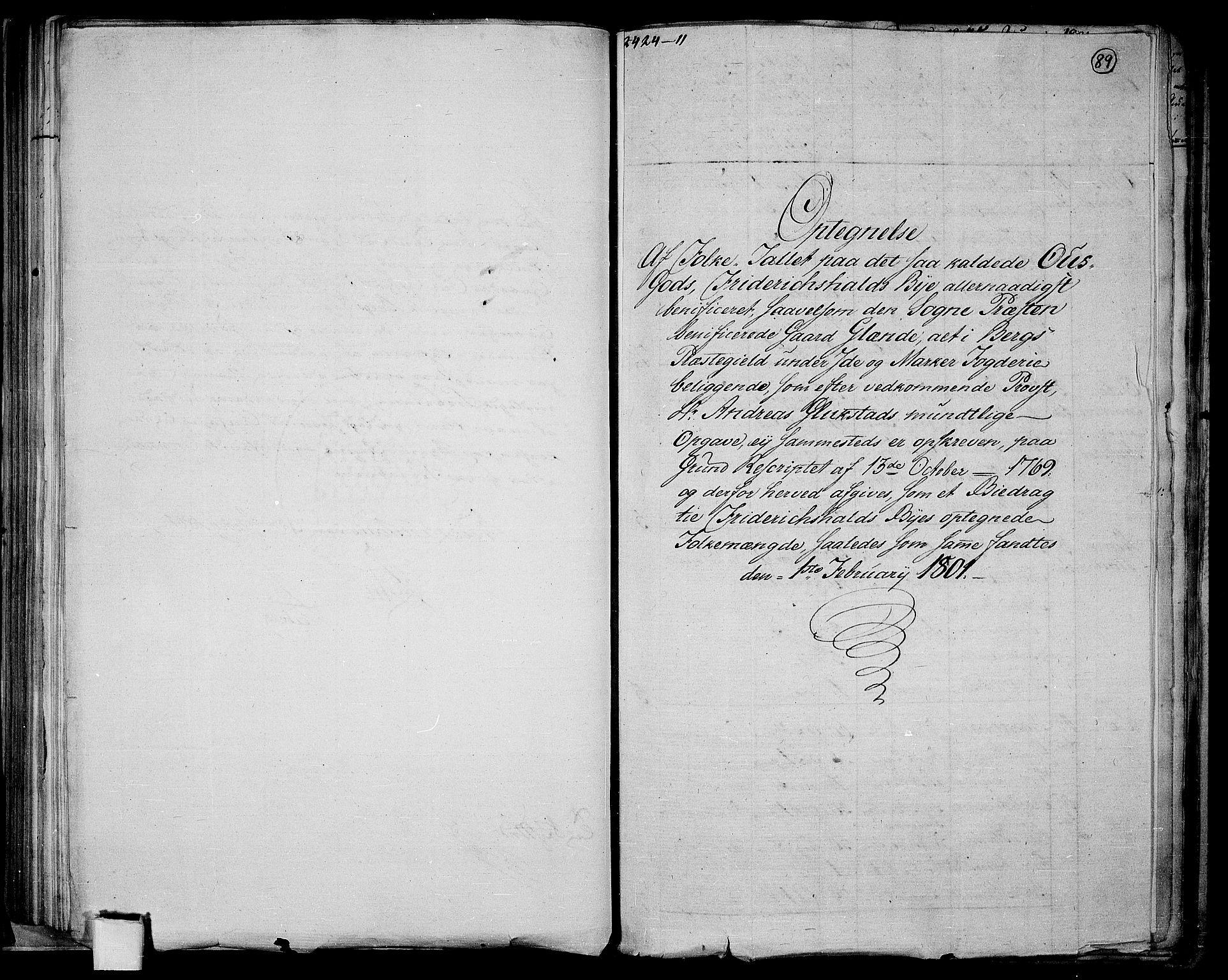 RA, Folketelling 1801 for 0101P Fredrikshald prestegjeld, 1801, s. 88b-89a