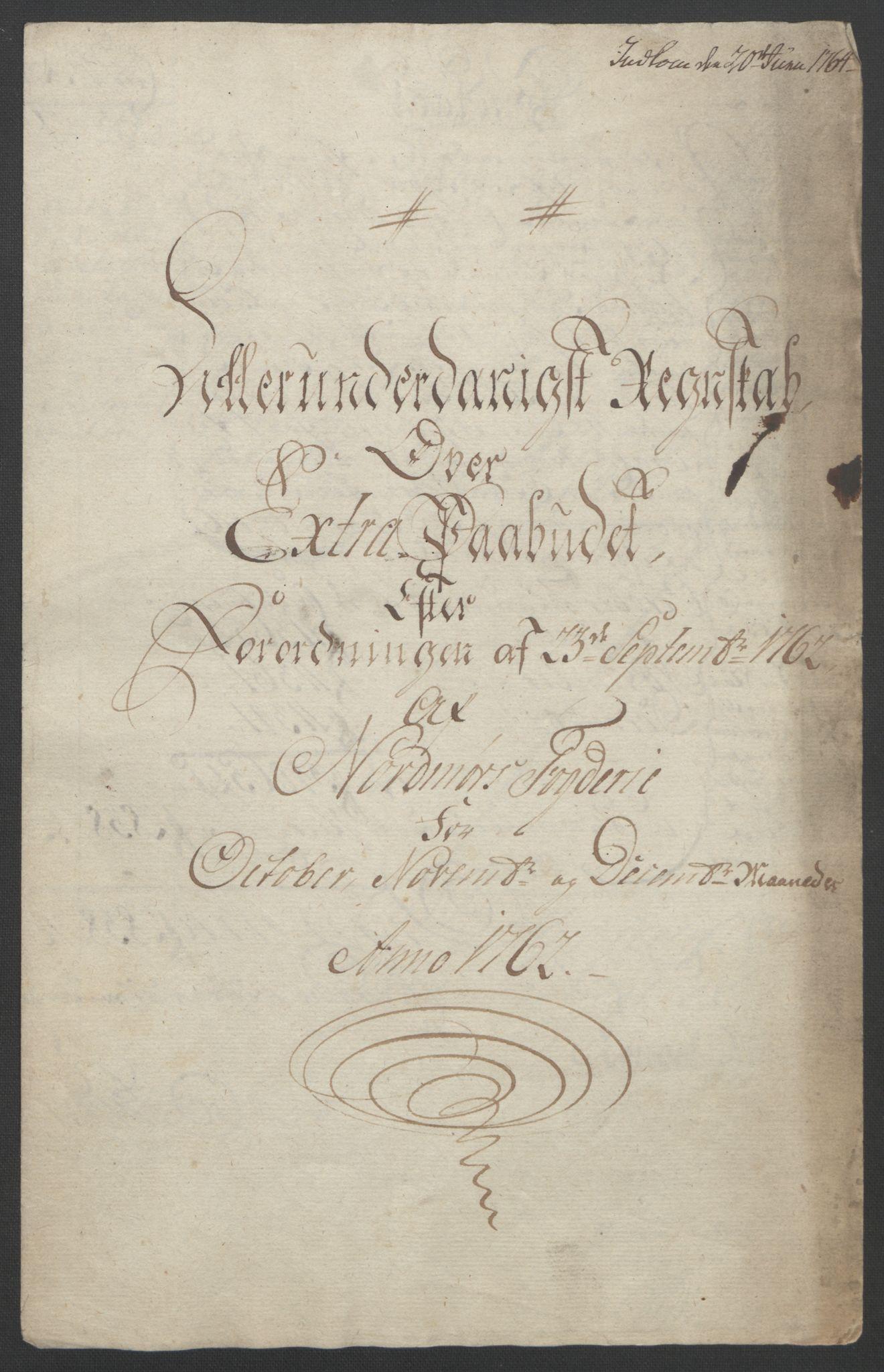 RA, Rentekammeret inntil 1814, Reviderte regnskaper, Fogderegnskap, R56/L3841: Ekstraskatten Nordmøre, 1762-1763, s. 5