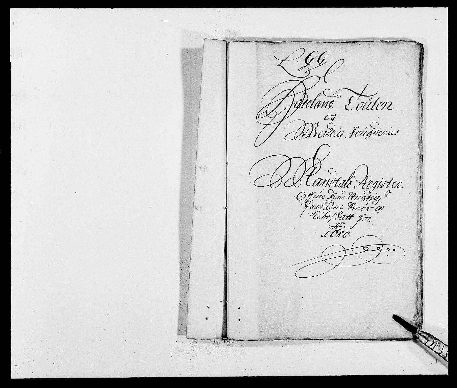 RA, Rentekammeret inntil 1814, Reviderte regnskaper, Fogderegnskap, R18/L1277: Fogderegnskap Hadeland, Toten og Valdres, 1680, s. 1