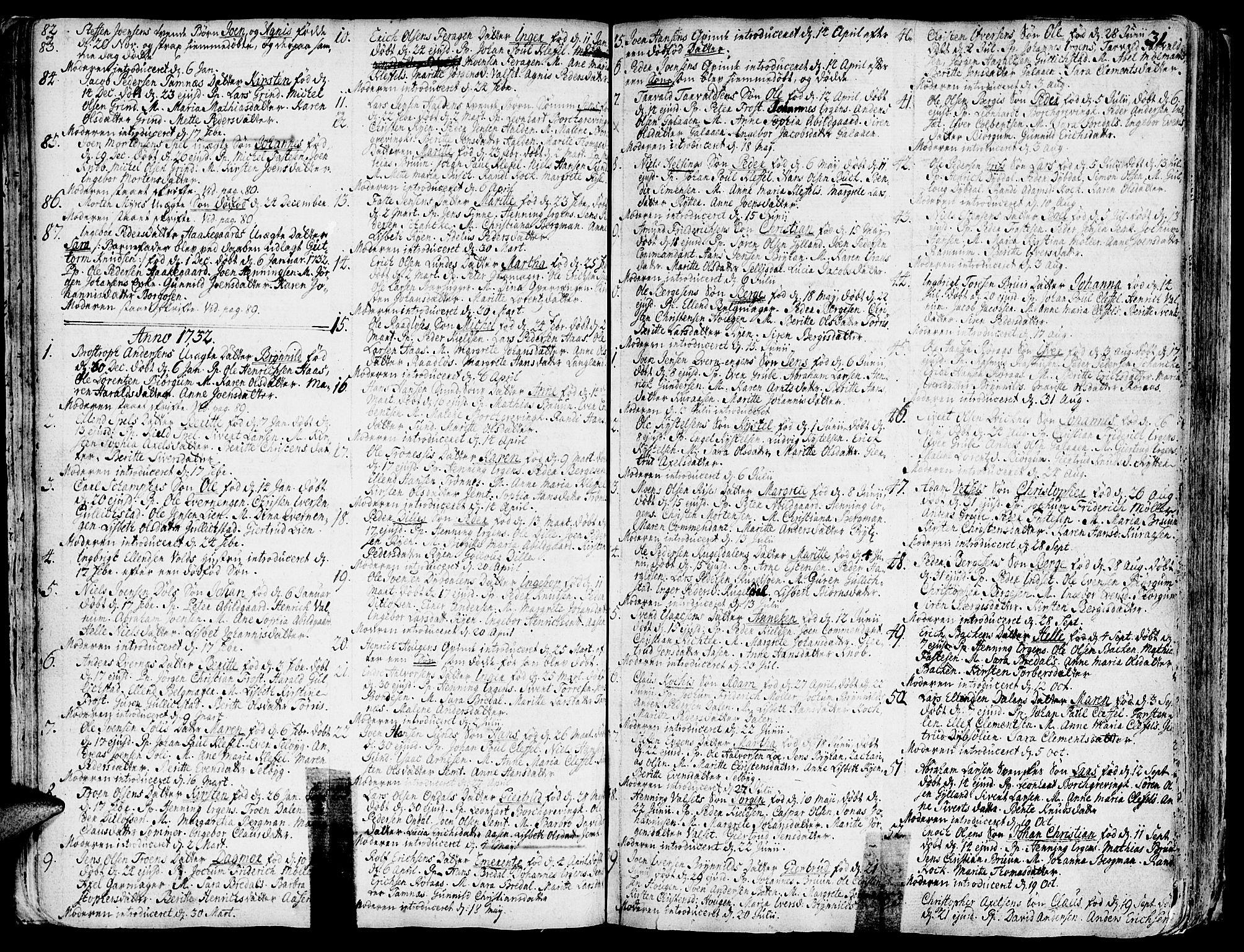 SAT, Ministerialprotokoller, klokkerbøker og fødselsregistre - Sør-Trøndelag, 681/L0925: Ministerialbok nr. 681A03, 1727-1766, s. 31